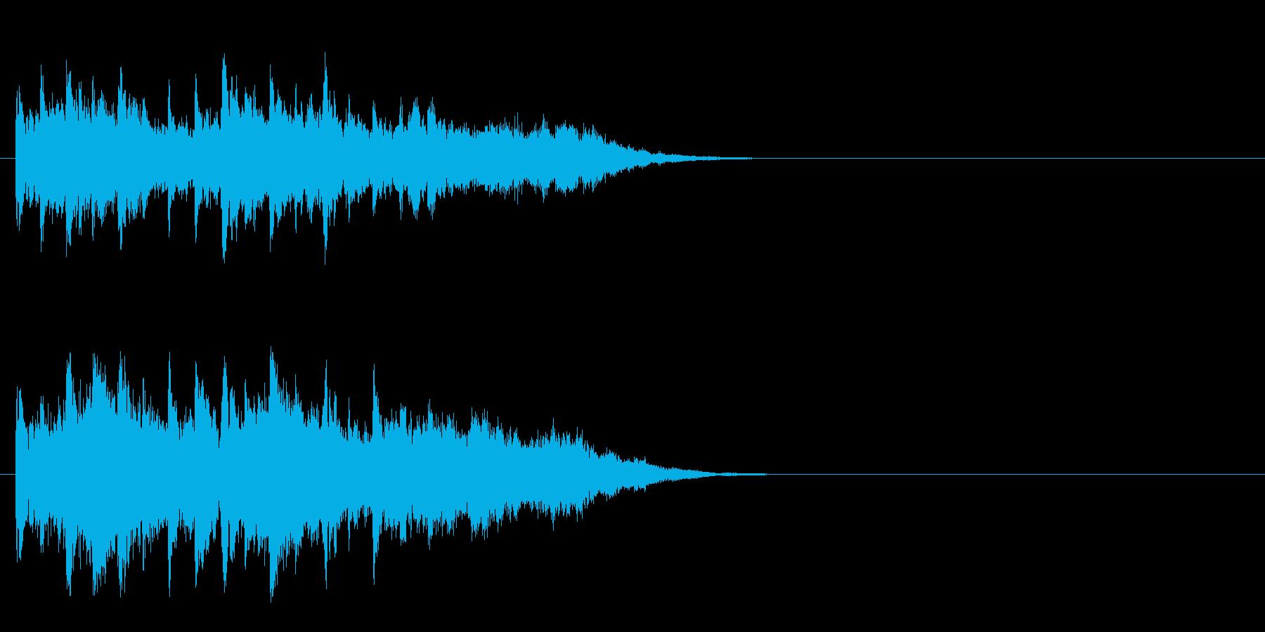 ジングル/環境(清涼/場面転換SE風)の再生済みの波形