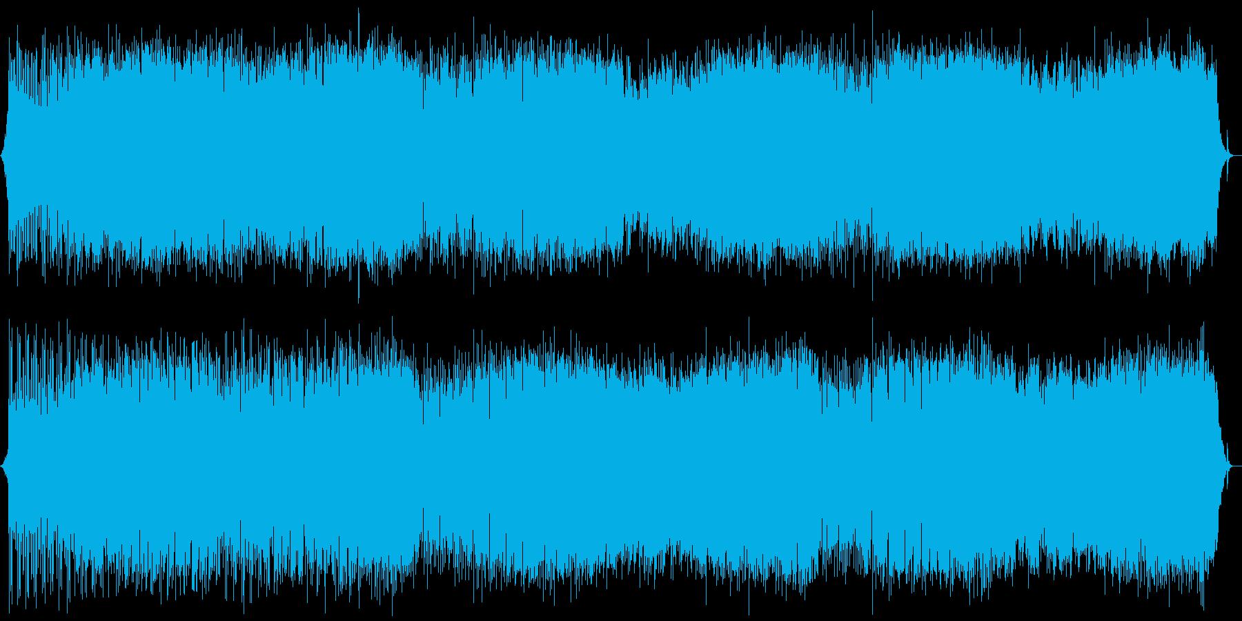 スペイン風の民族音楽の再生済みの波形