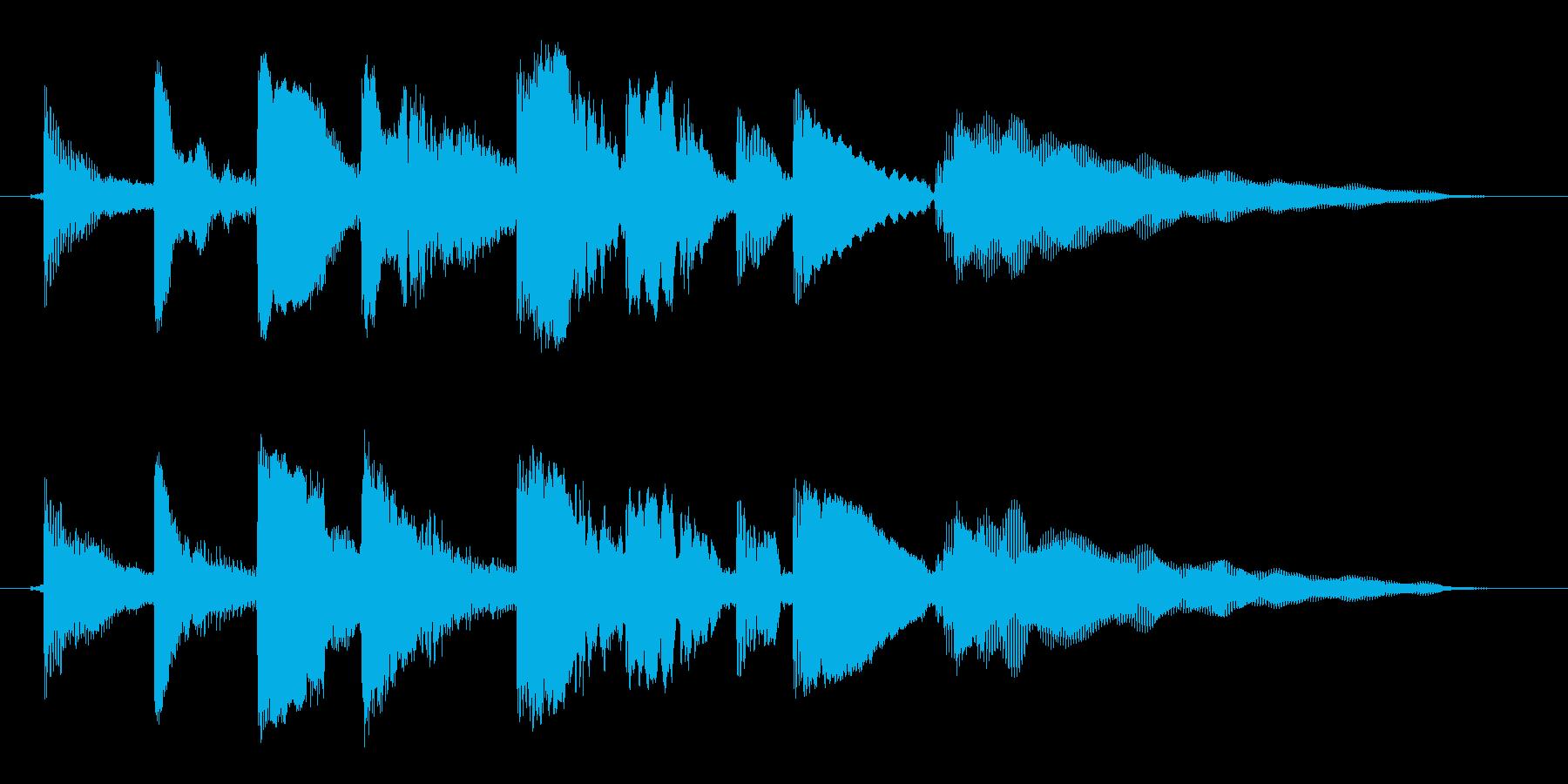 海外ドラマ風 エレキギター ロックなリフの再生済みの波形