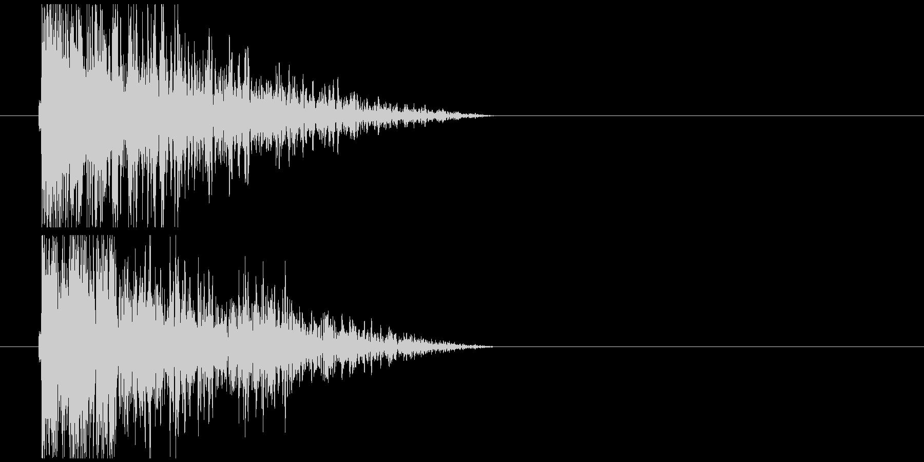 短めの低音インパクトの未再生の波形