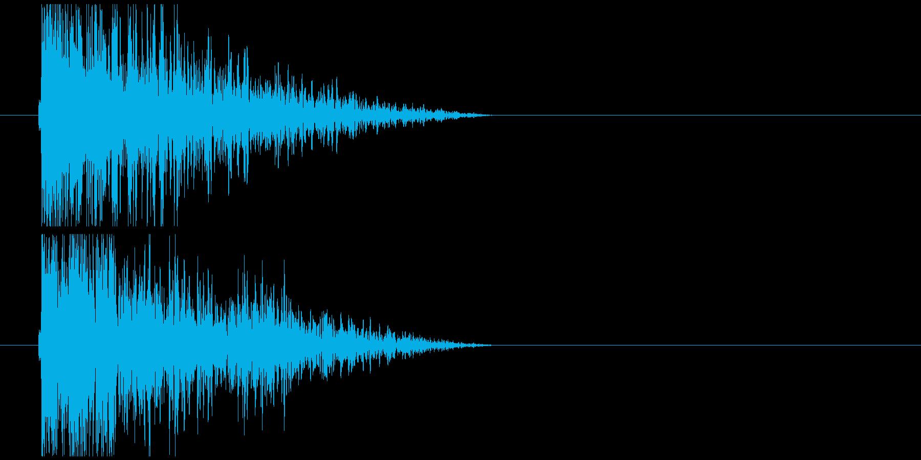 短めの低音インパクトの再生済みの波形