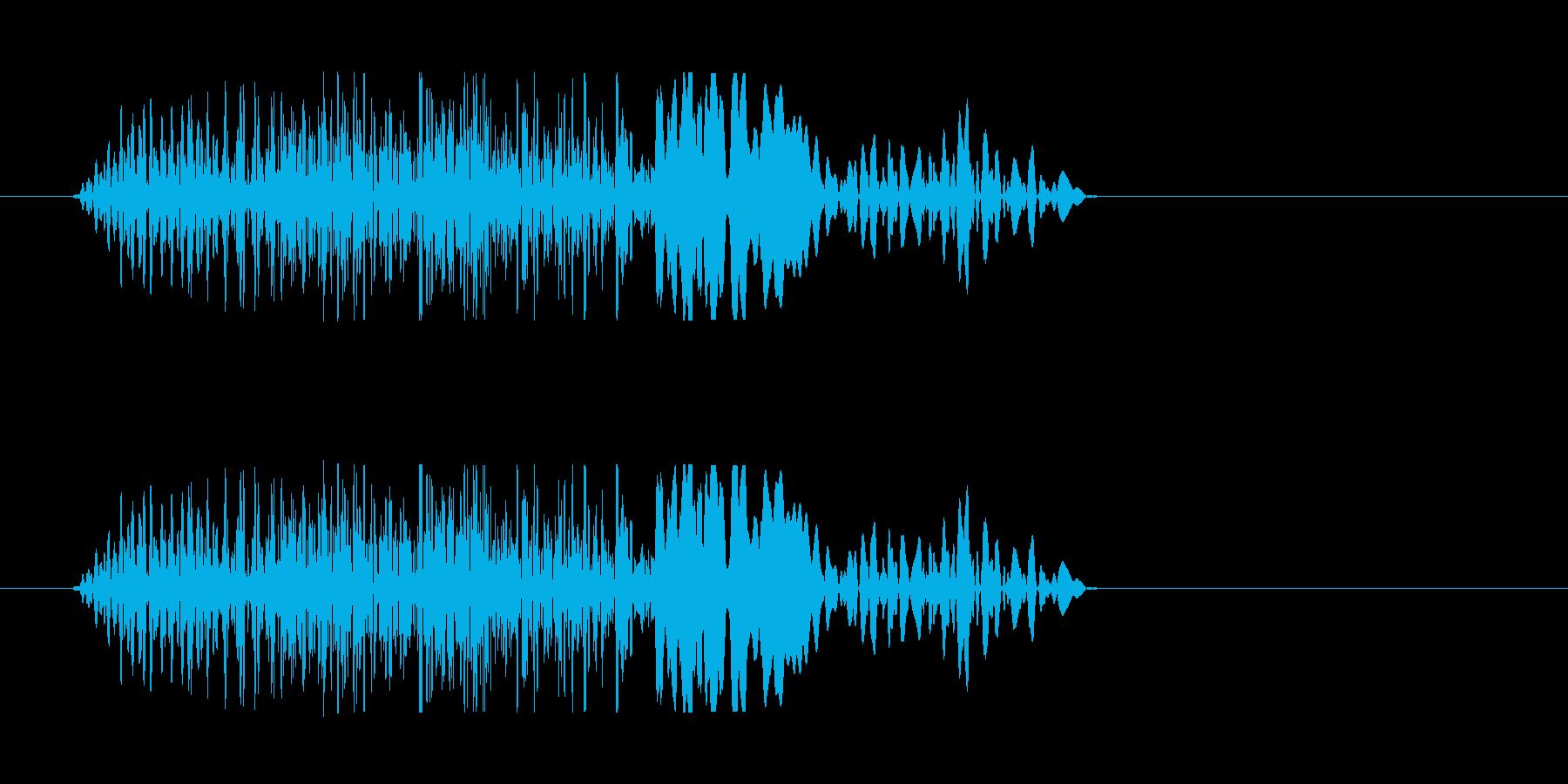 チュン(ビーム音色)の再生済みの波形