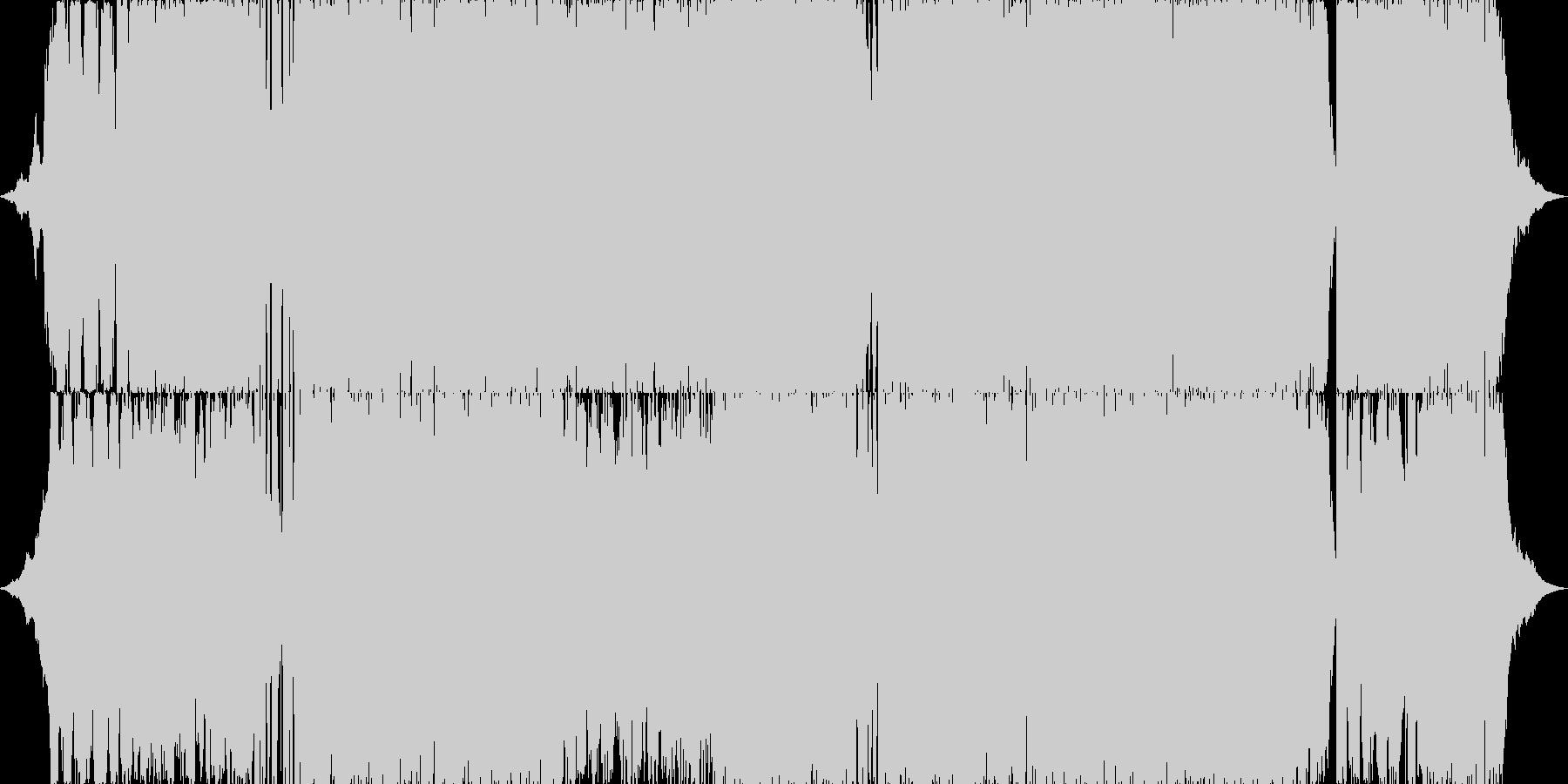 メヌエットのダンストラック(楽しい)の未再生の波形