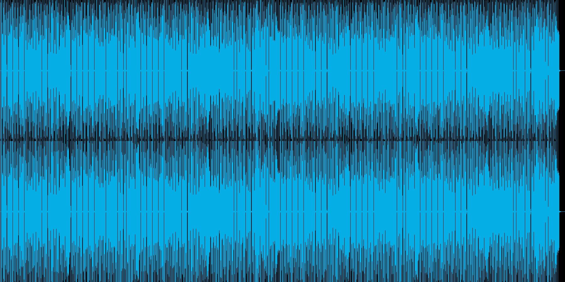 ファミコンブルース進行ステージ曲の再生済みの波形