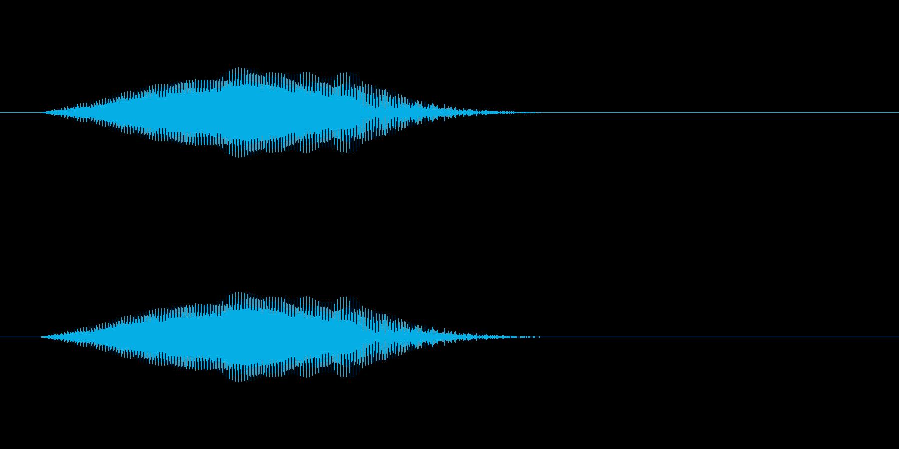 【牛 合成01-3】の再生済みの波形