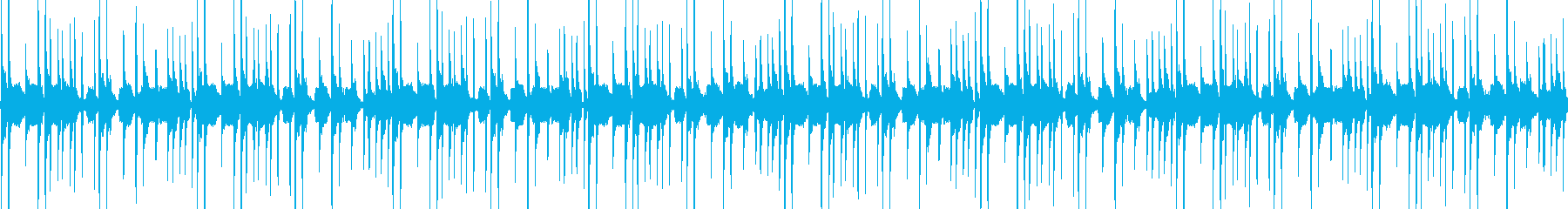 ムーディでリズミカルな曲の再生済みの波形