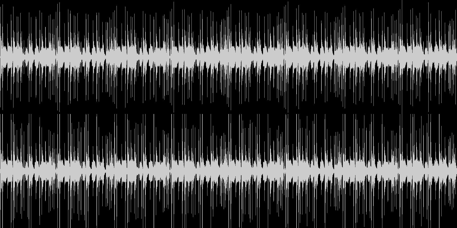 ムーディでリズミカルな曲の未再生の波形