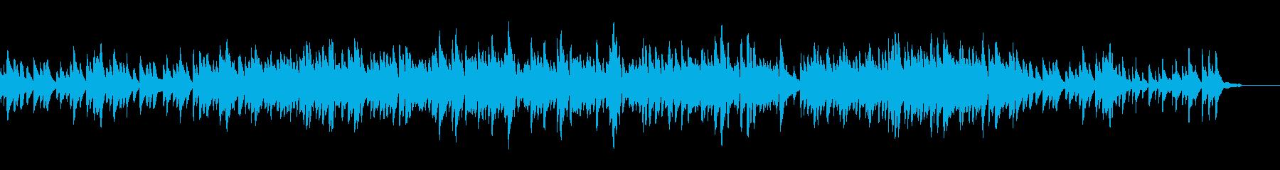 優しい感じのピアノソロの再生済みの波形