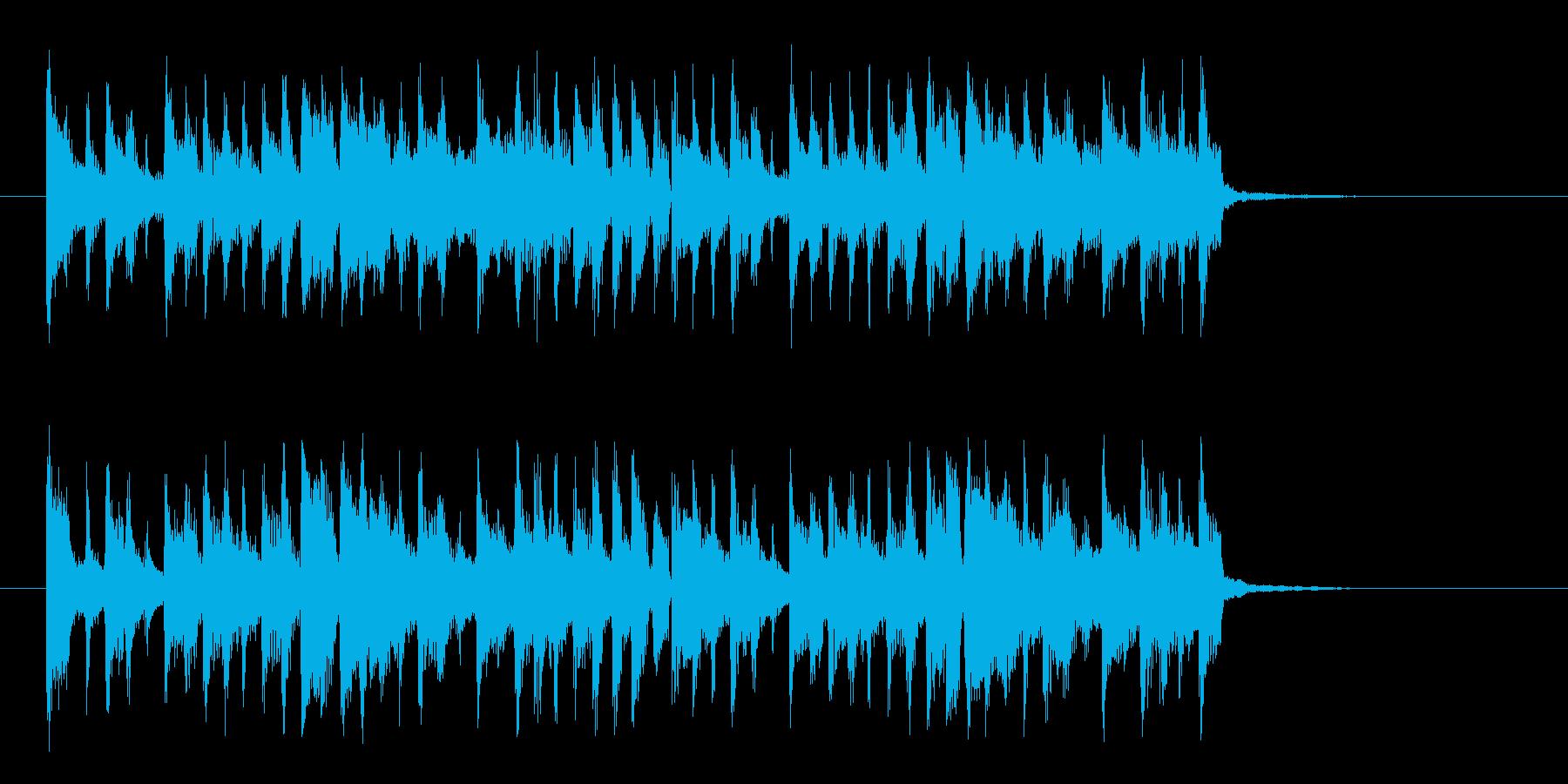 コミカルおしゃれなシンセサイザーサウンドの再生済みの波形