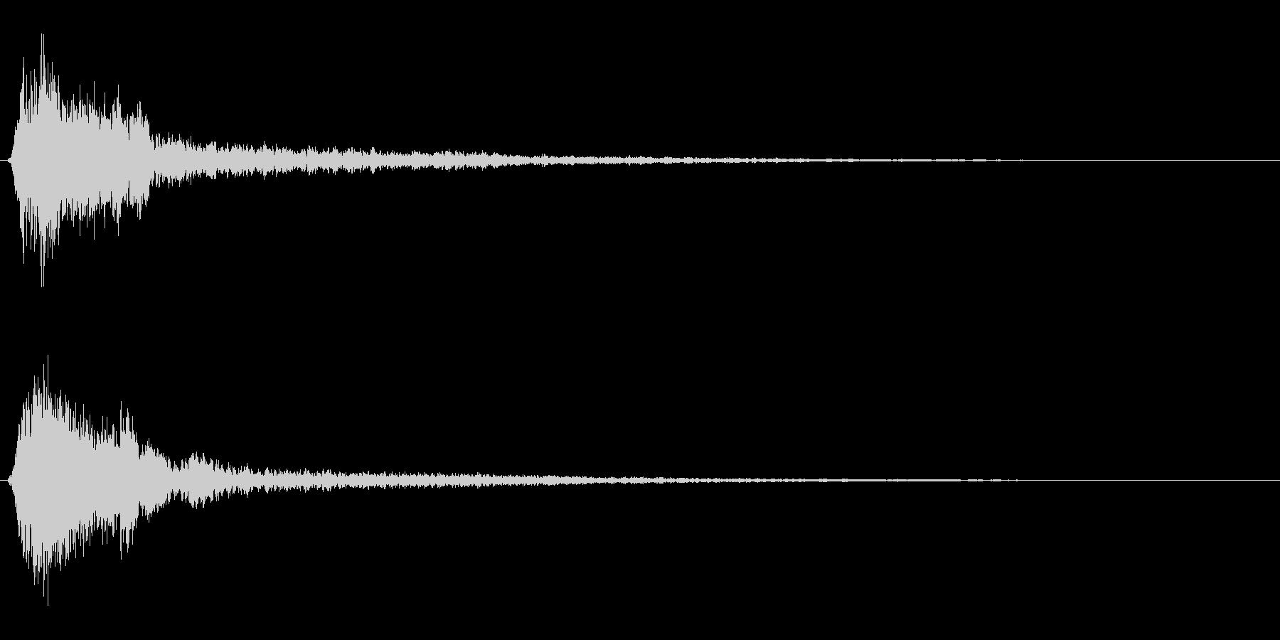 サスペンスに最適!ピアノの弦を弄ぶ音44の未再生の波形