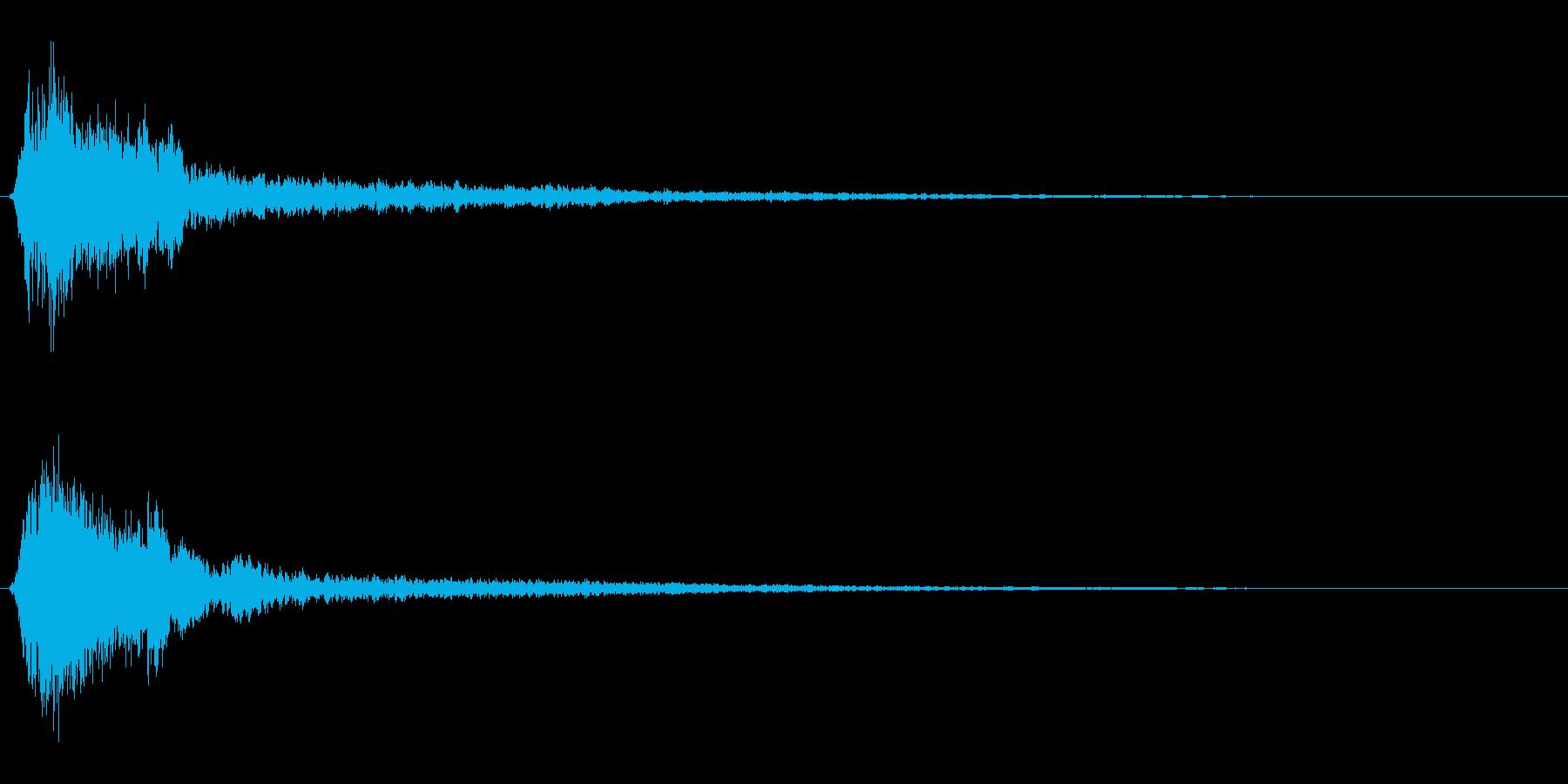 サスペンスに最適!ピアノの弦を弄ぶ音44の再生済みの波形