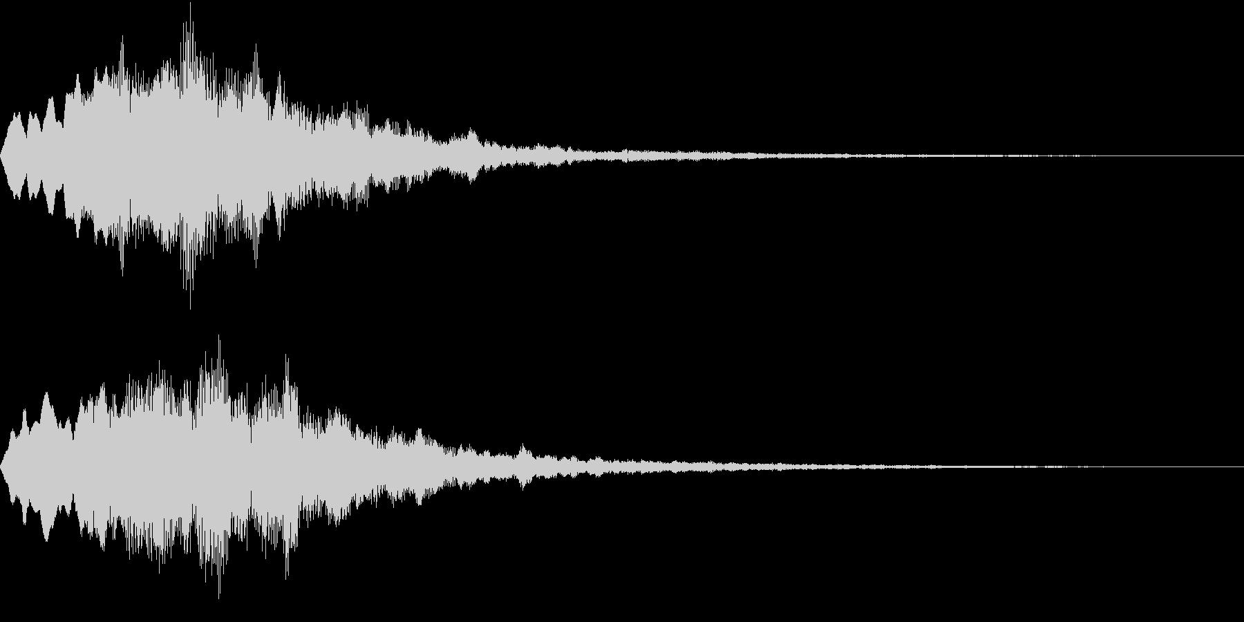 Level 短めのレベルアップSE 2の未再生の波形