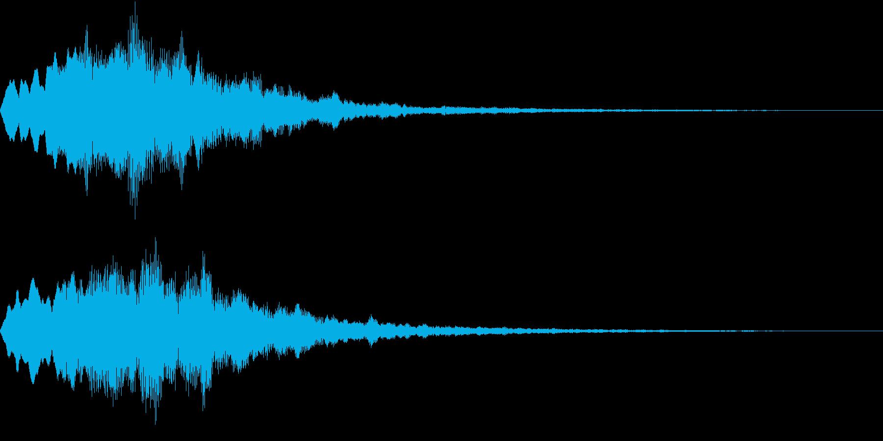 Level 短めのレベルアップSE 2の再生済みの波形