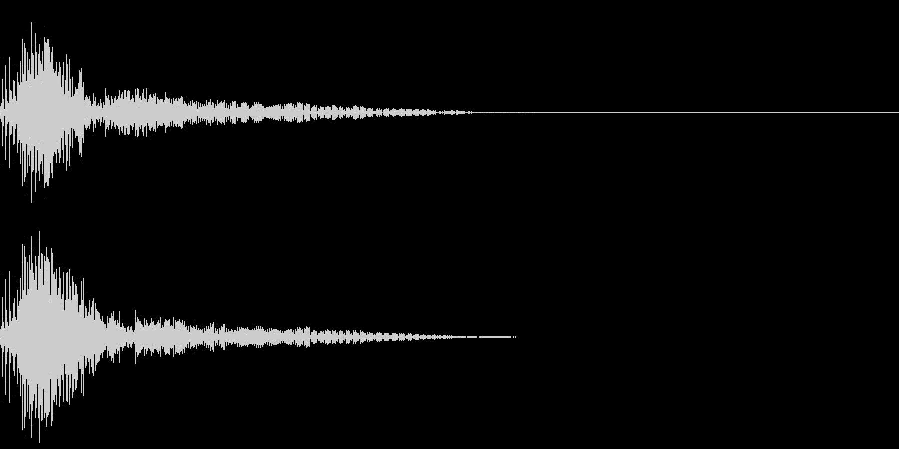 Zako ゲームのザコキャラの鳴き声 1の未再生の波形