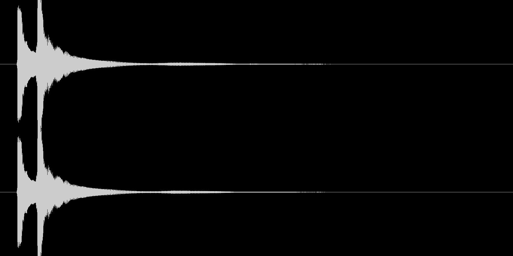 ピンポン(琴の音色)の未再生の波形