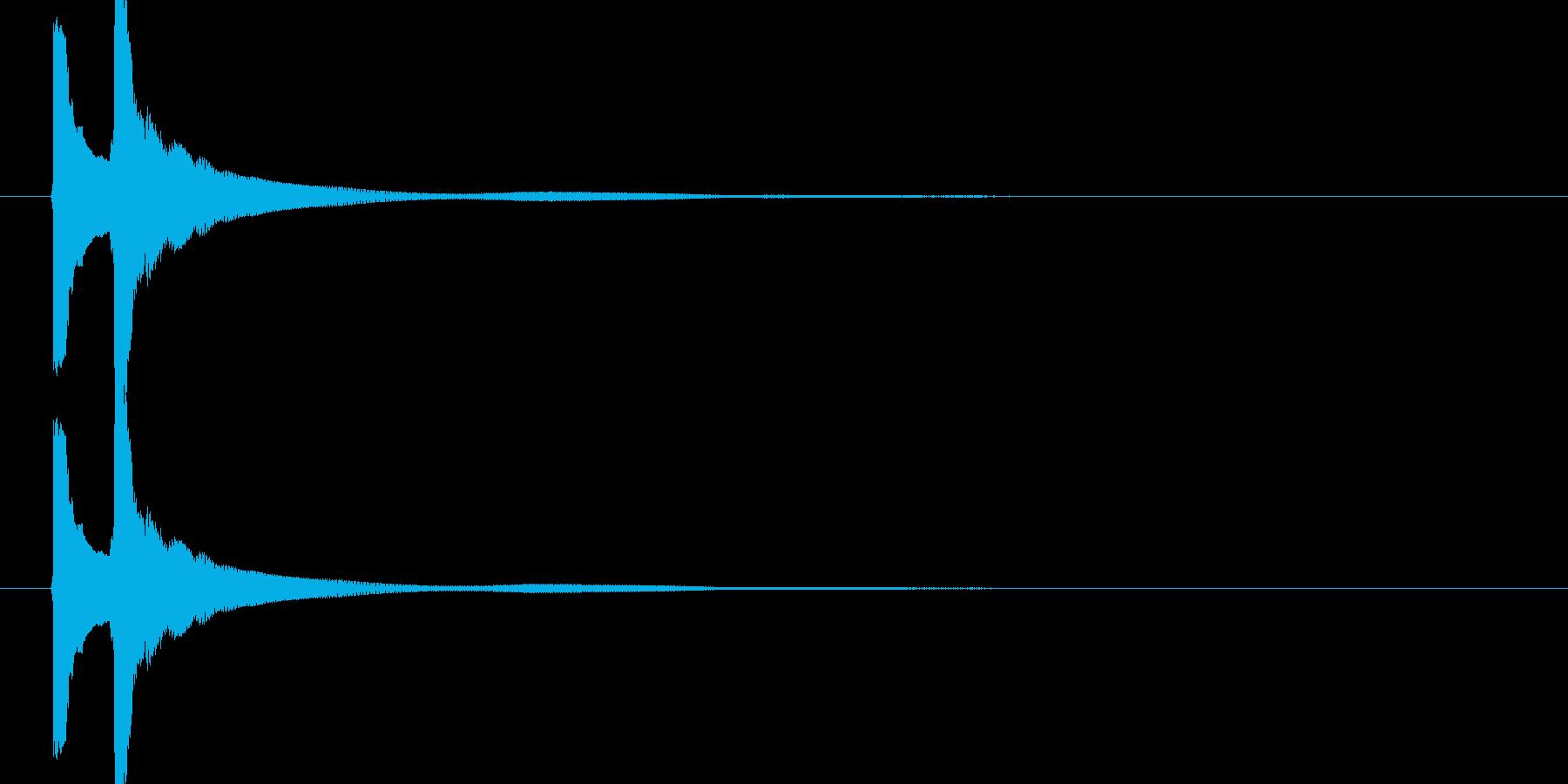 ピンポン(琴の音色)の再生済みの波形
