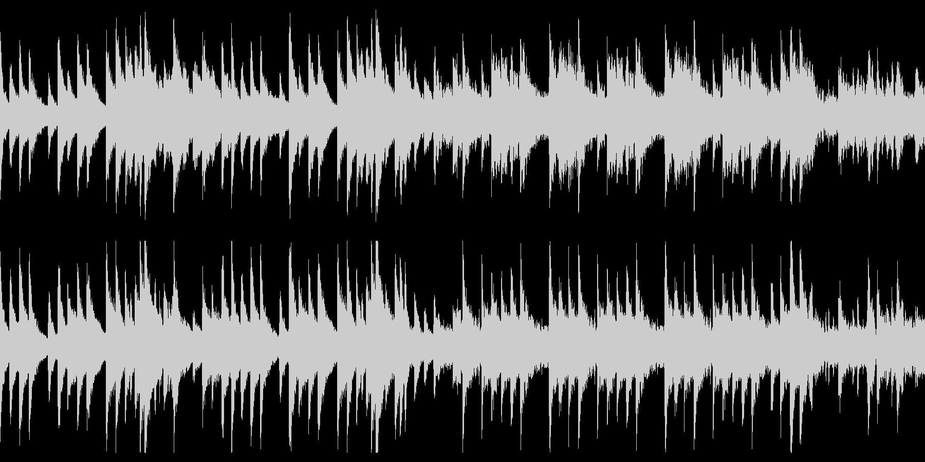 切ない片思いを表現した、ループのBGMの未再生の波形