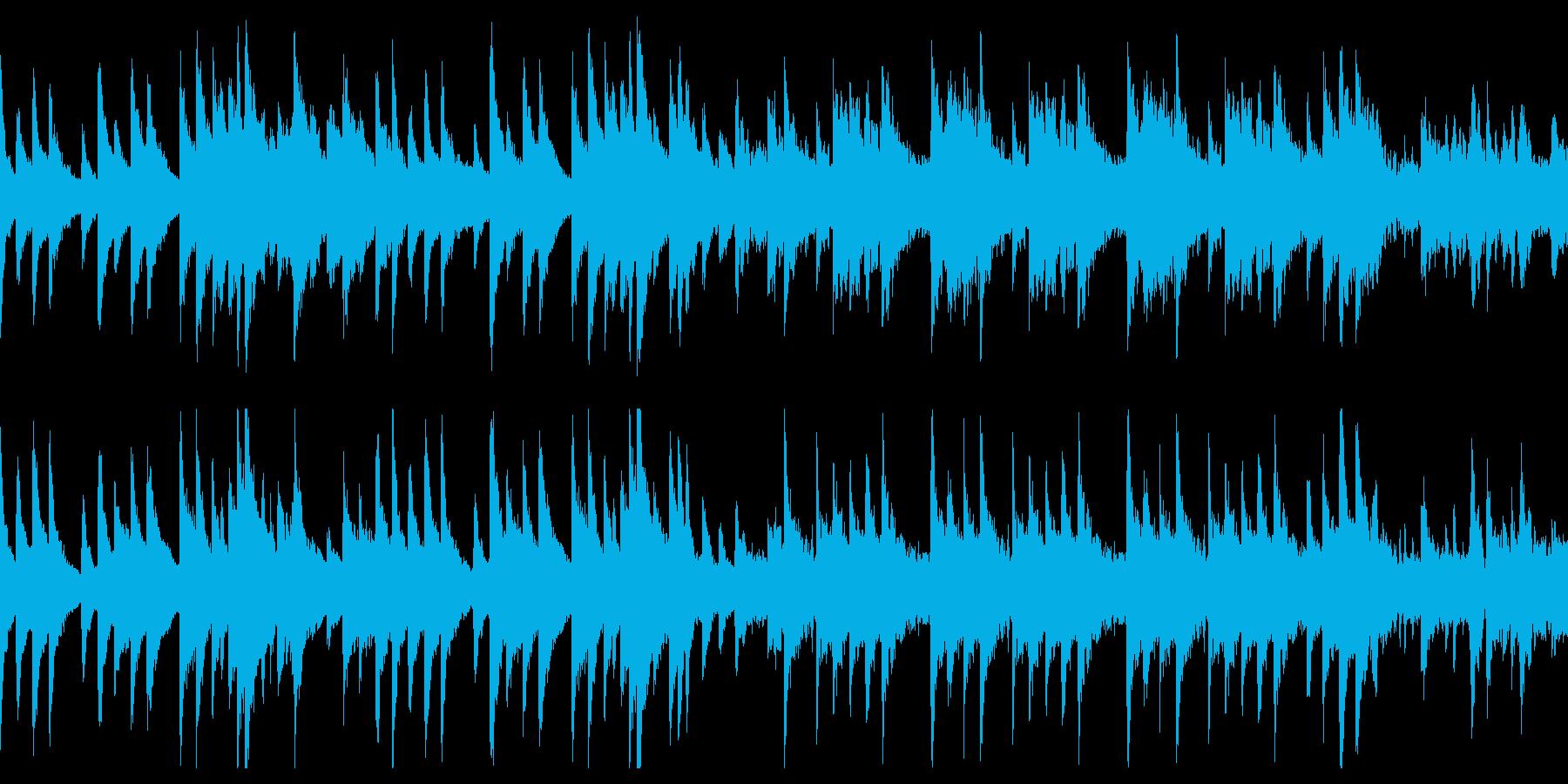 切ない片思いを表現した、ループのBGMの再生済みの波形