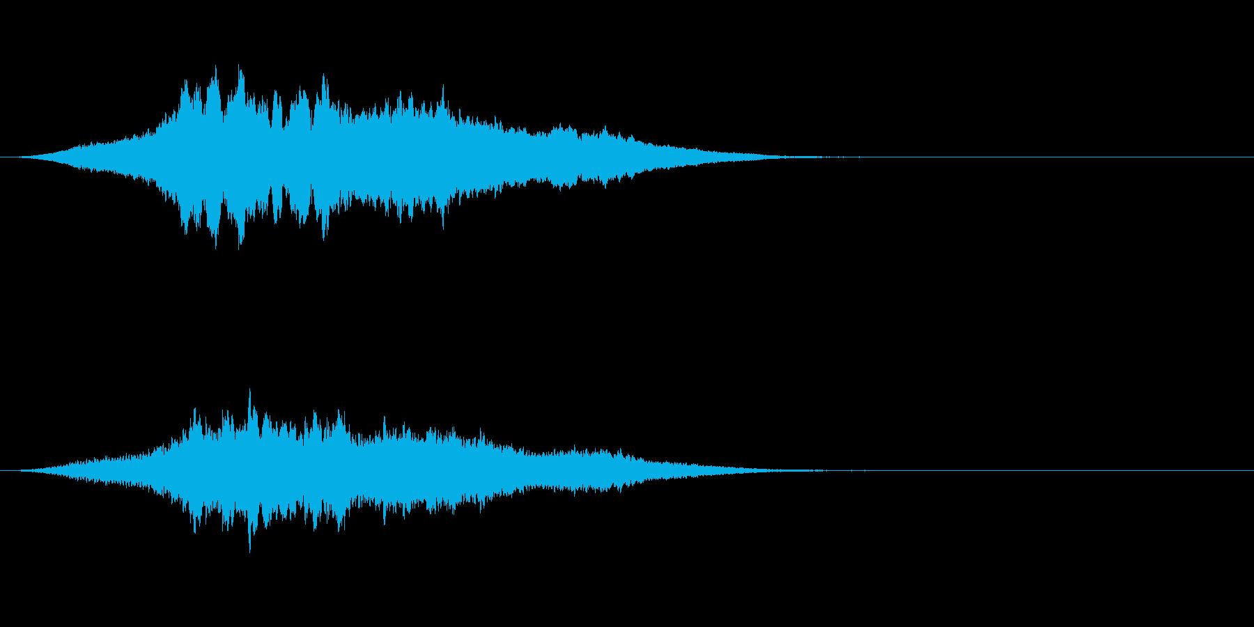 ブ〜ン!蜂ハチや昆虫が飛ぶ鳴く効果音01の再生済みの波形