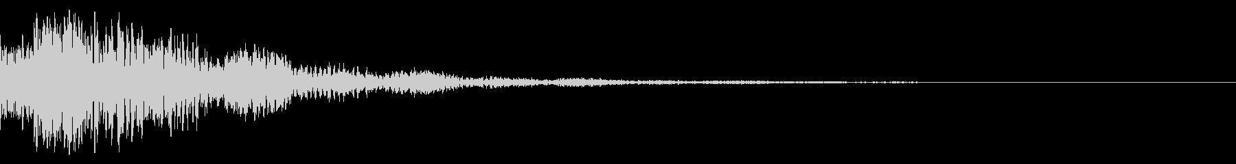 ドドン!(迫力ある太鼓と鼓の効果音)01の未再生の波形