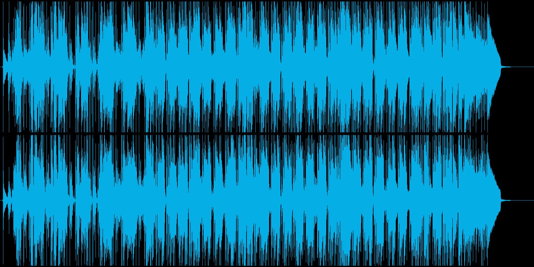 レゲエ風のトロピカルなBGMの再生済みの波形