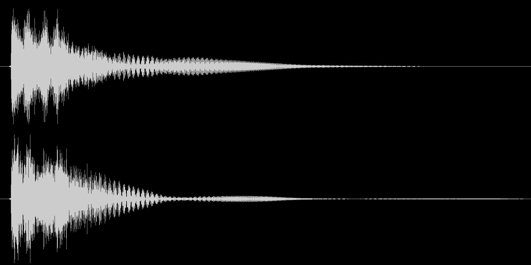 決定音、ボタン、スタートの未再生の波形