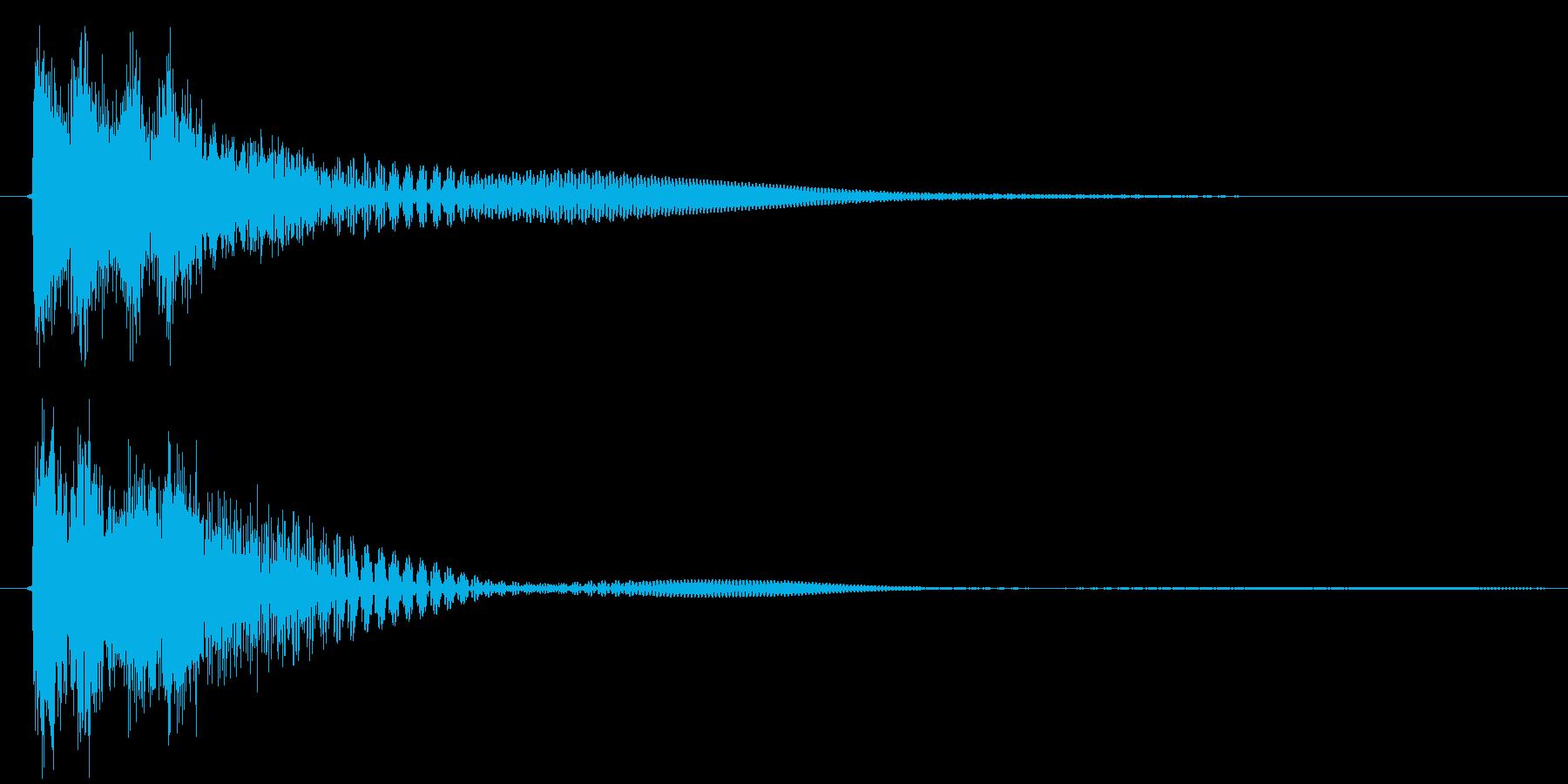 決定音、ボタン、スタートの再生済みの波形