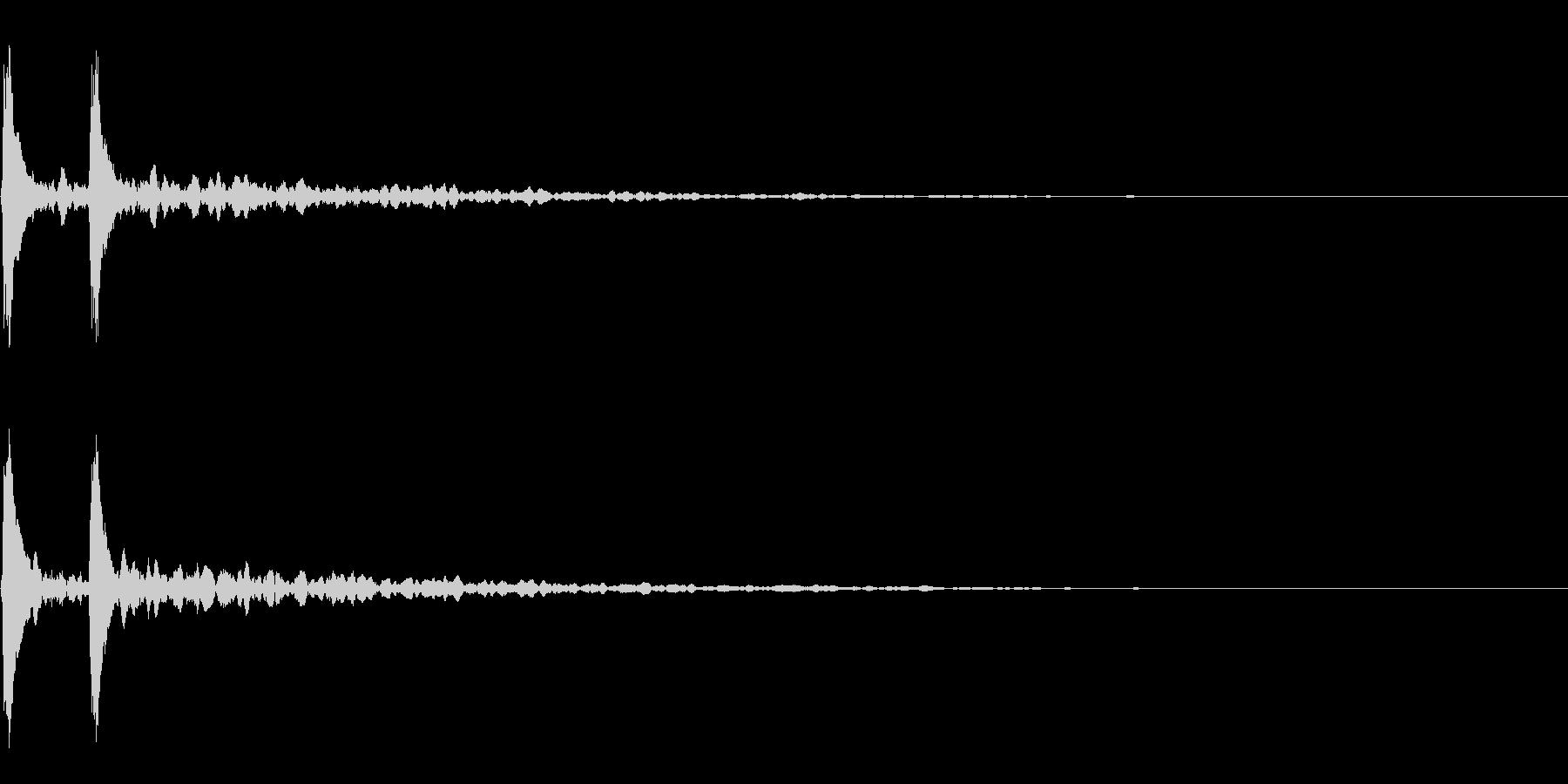 打楽器の下降音~かくぅーん~の未再生の波形
