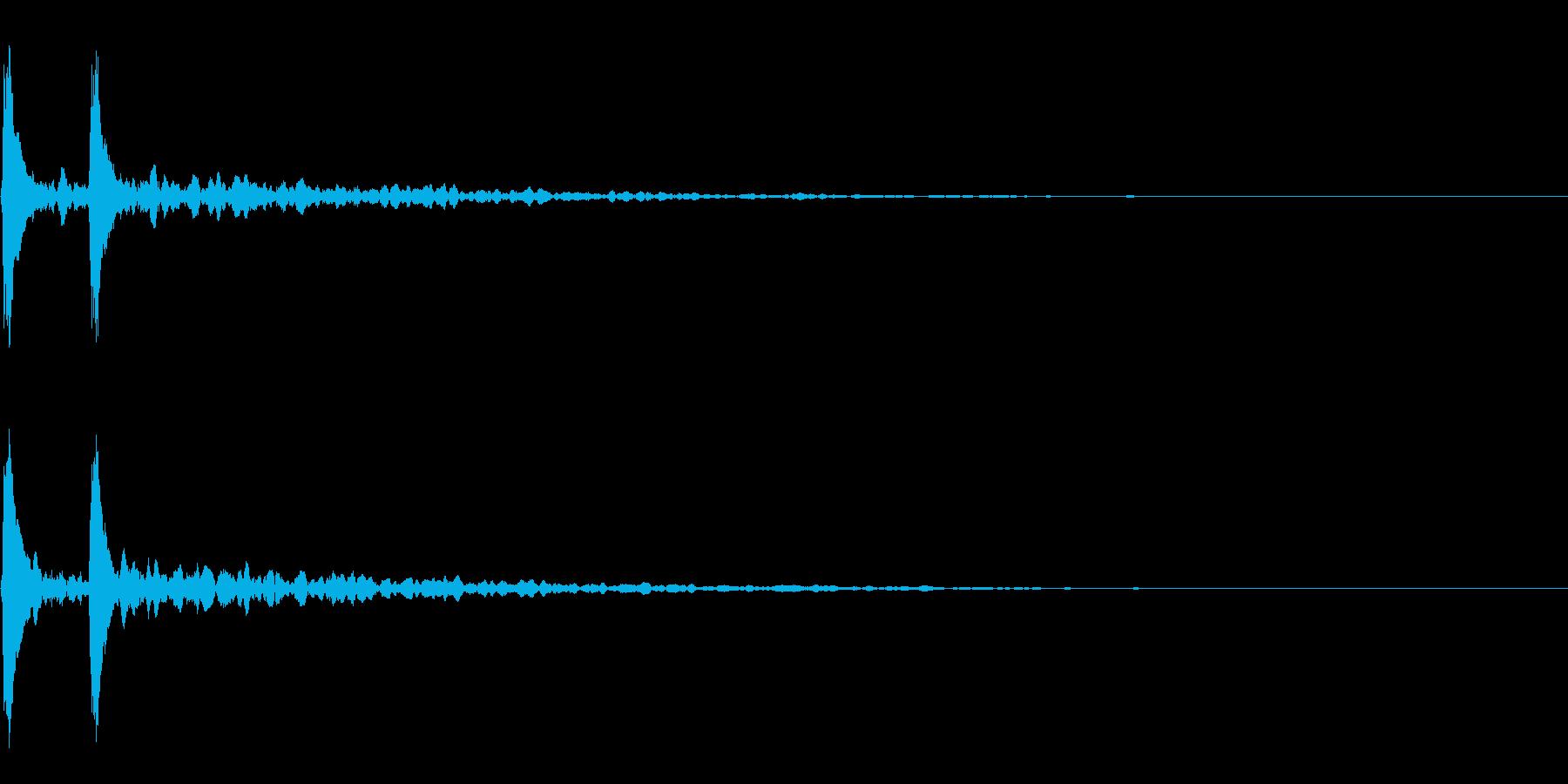 打楽器の下降音~かくぅーん~の再生済みの波形