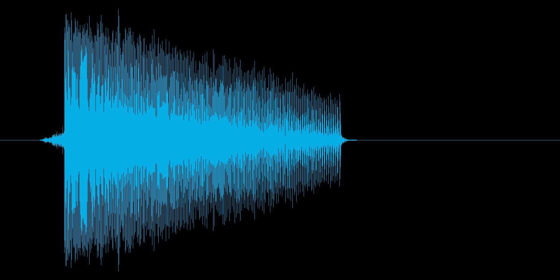 ゲーム(ファミコン風)レーザー音_031の再生済みの波形