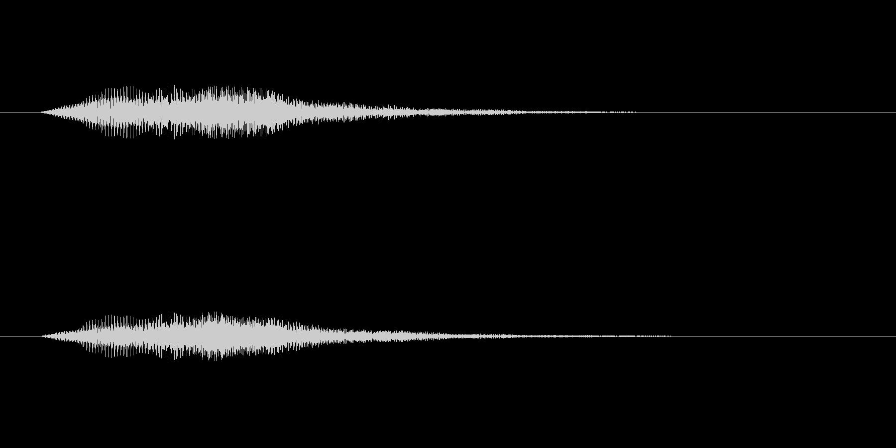 ボタンを押し決定した時の音です の未再生の波形