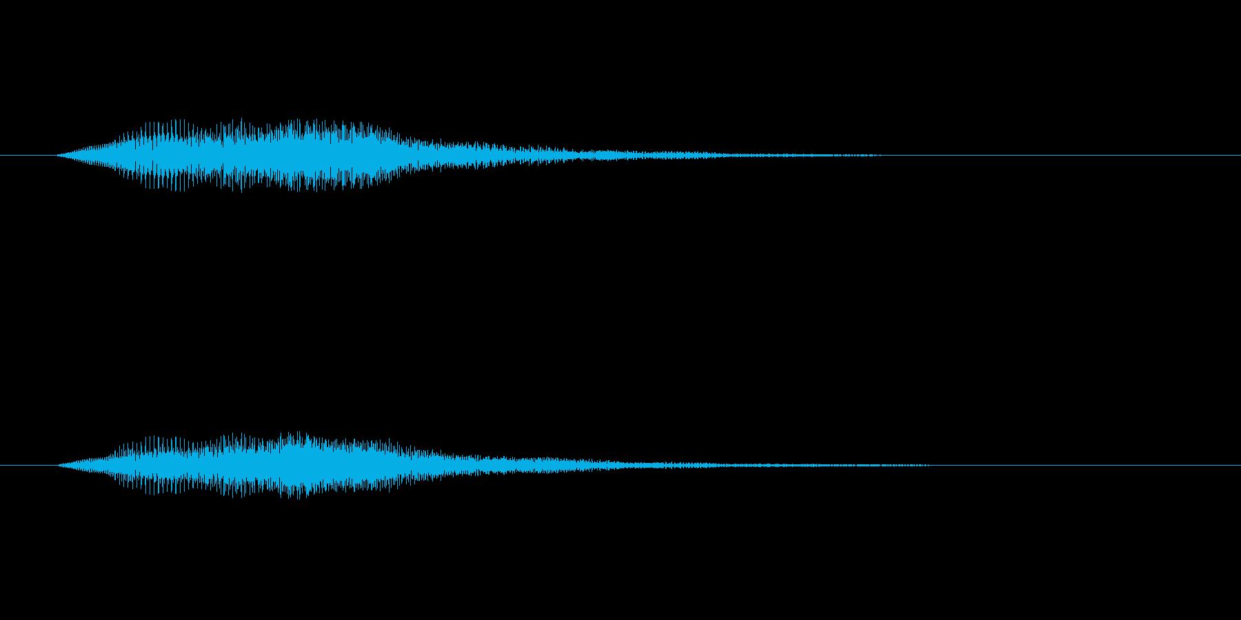 ボタンを押し決定した時の音です の再生済みの波形