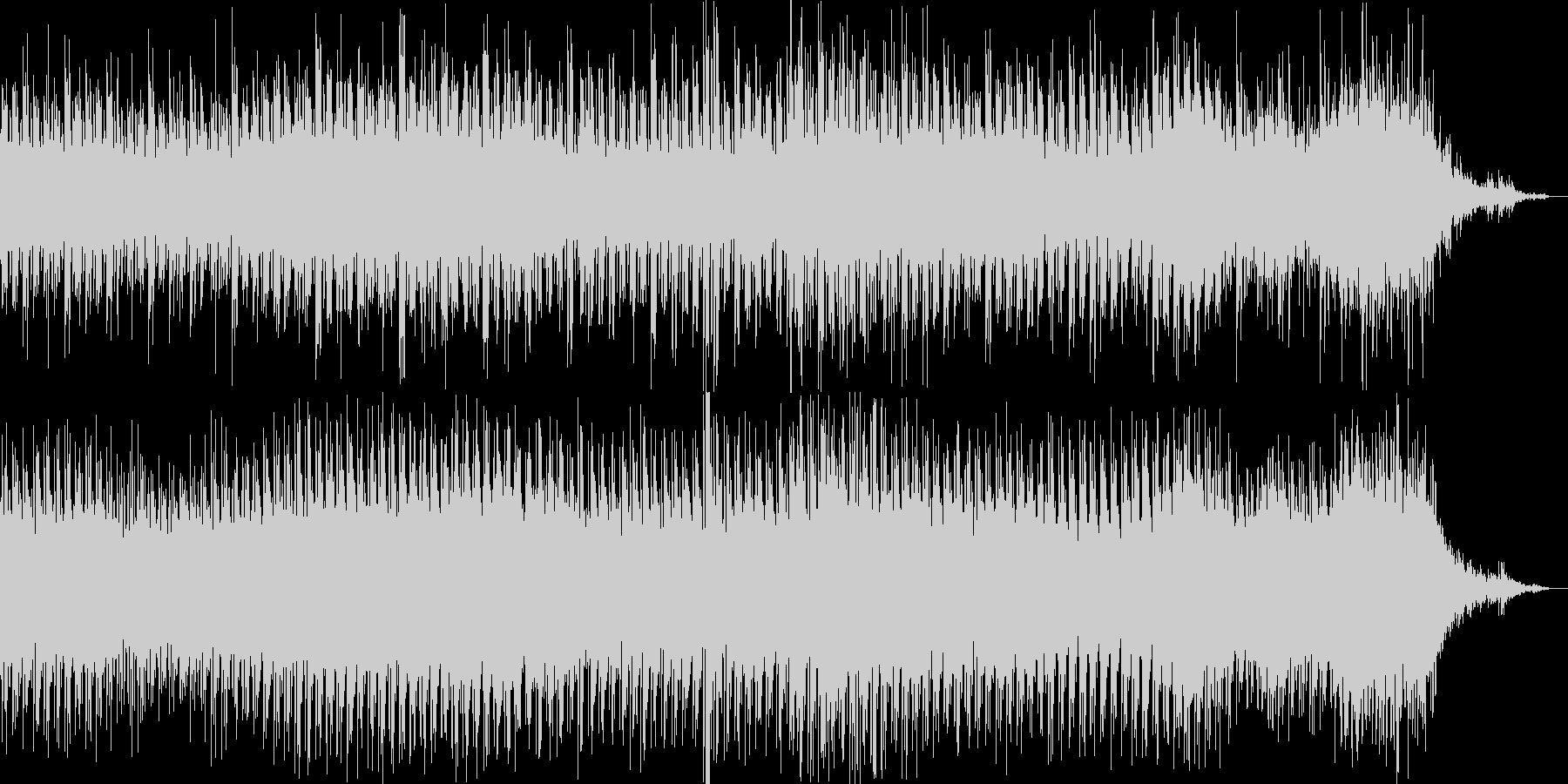 疾走感のあるミニマルなシーケンスの未再生の波形