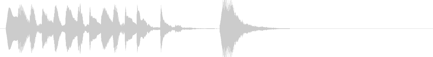 シンプルなマリンバのジングルの未再生の波形