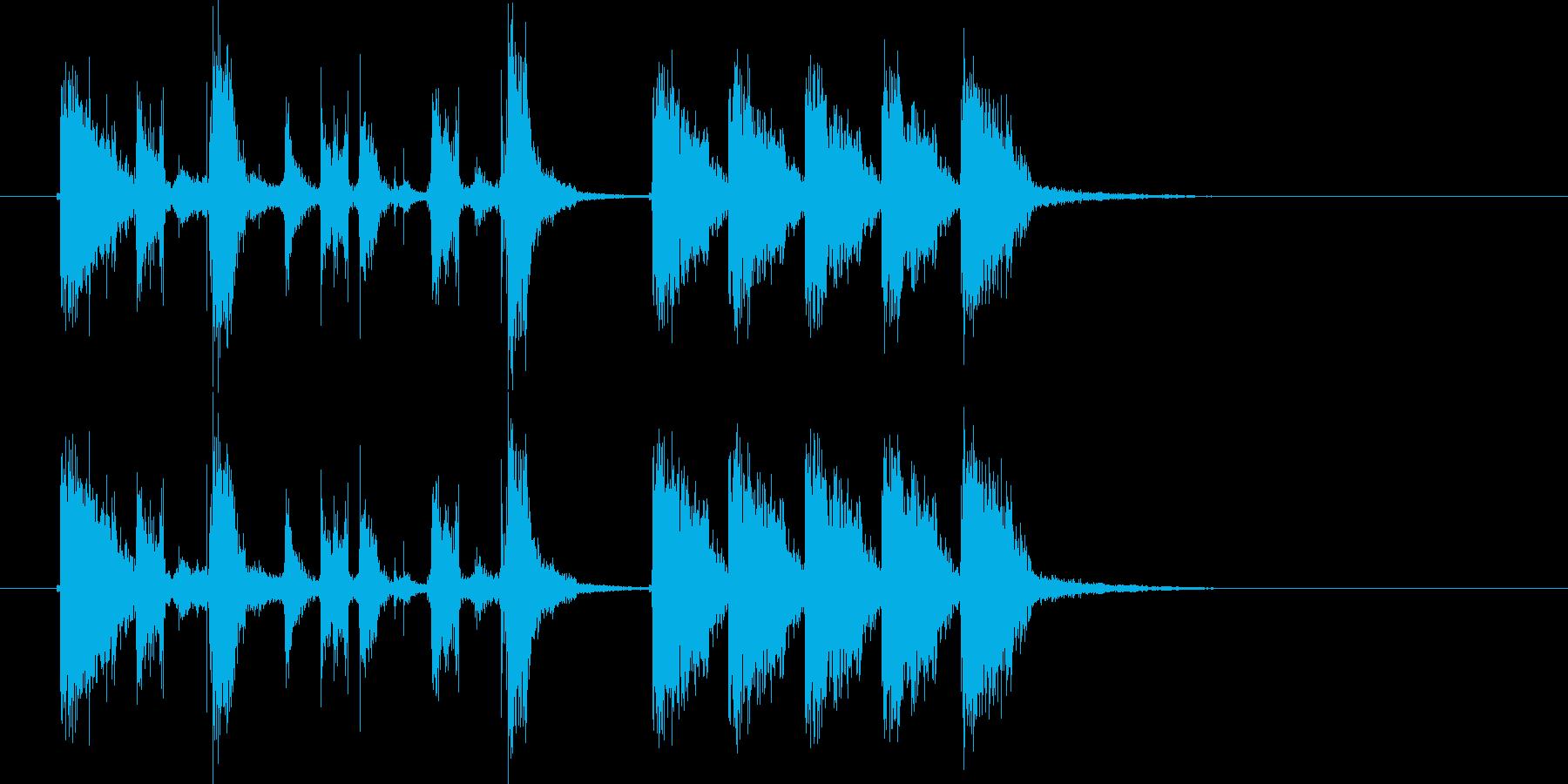 ダン、ダダダダダン!(切替、転換音)の再生済みの波形