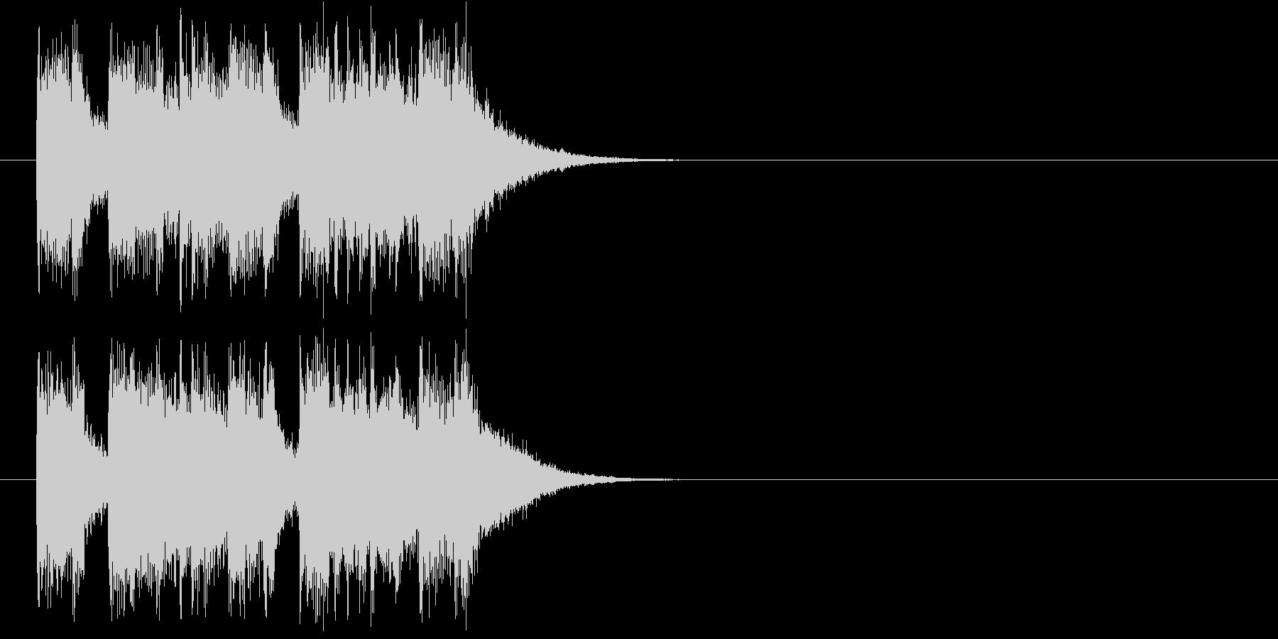 ジングル(コーナーエンド)の未再生の波形