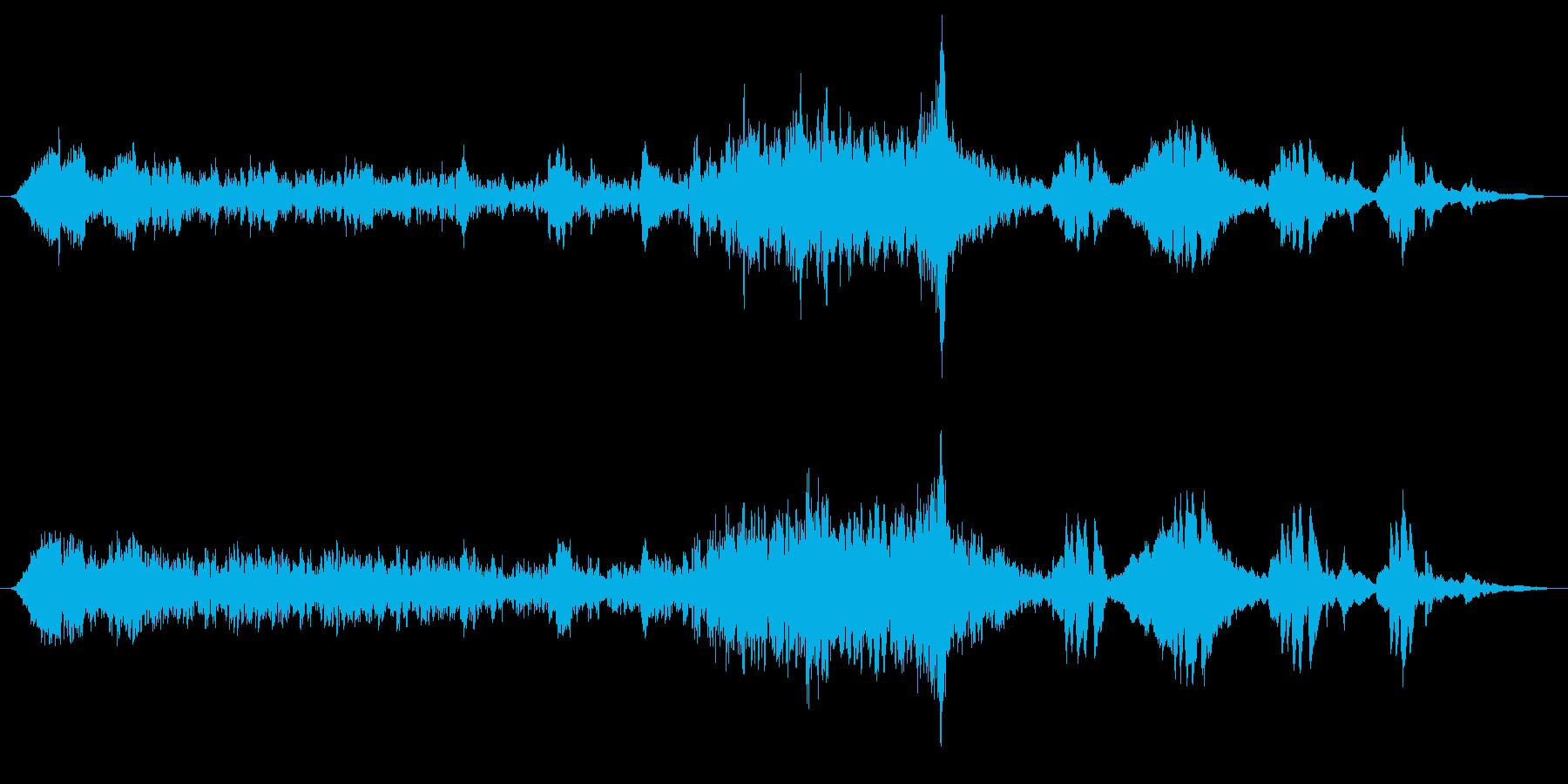 ミステリー、ホラー向きアンビエント楽曲の再生済みの波形