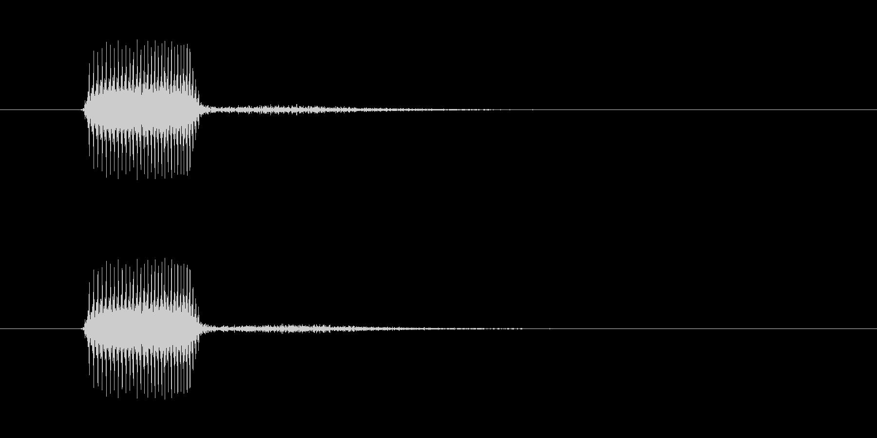 ベッというような虫っぽいタッチ音…の未再生の波形