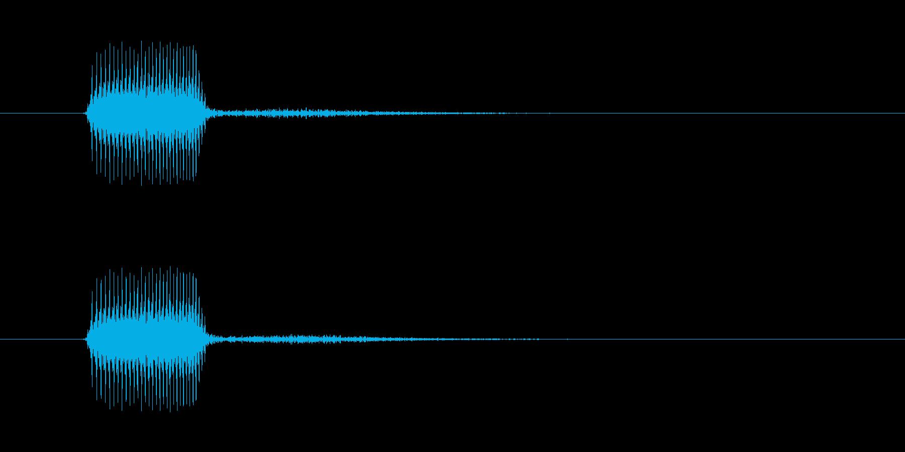 ベッというような虫っぽいタッチ音…の再生済みの波形