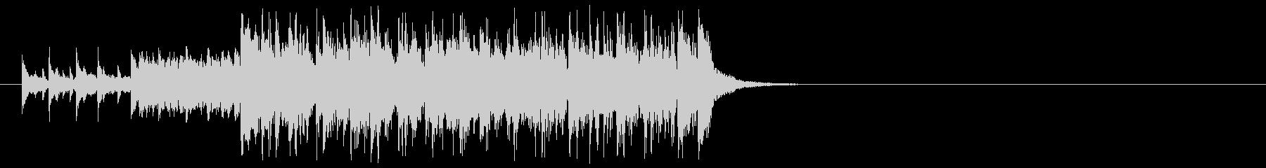 楽しいピアノのラテン系ジングルの未再生の波形