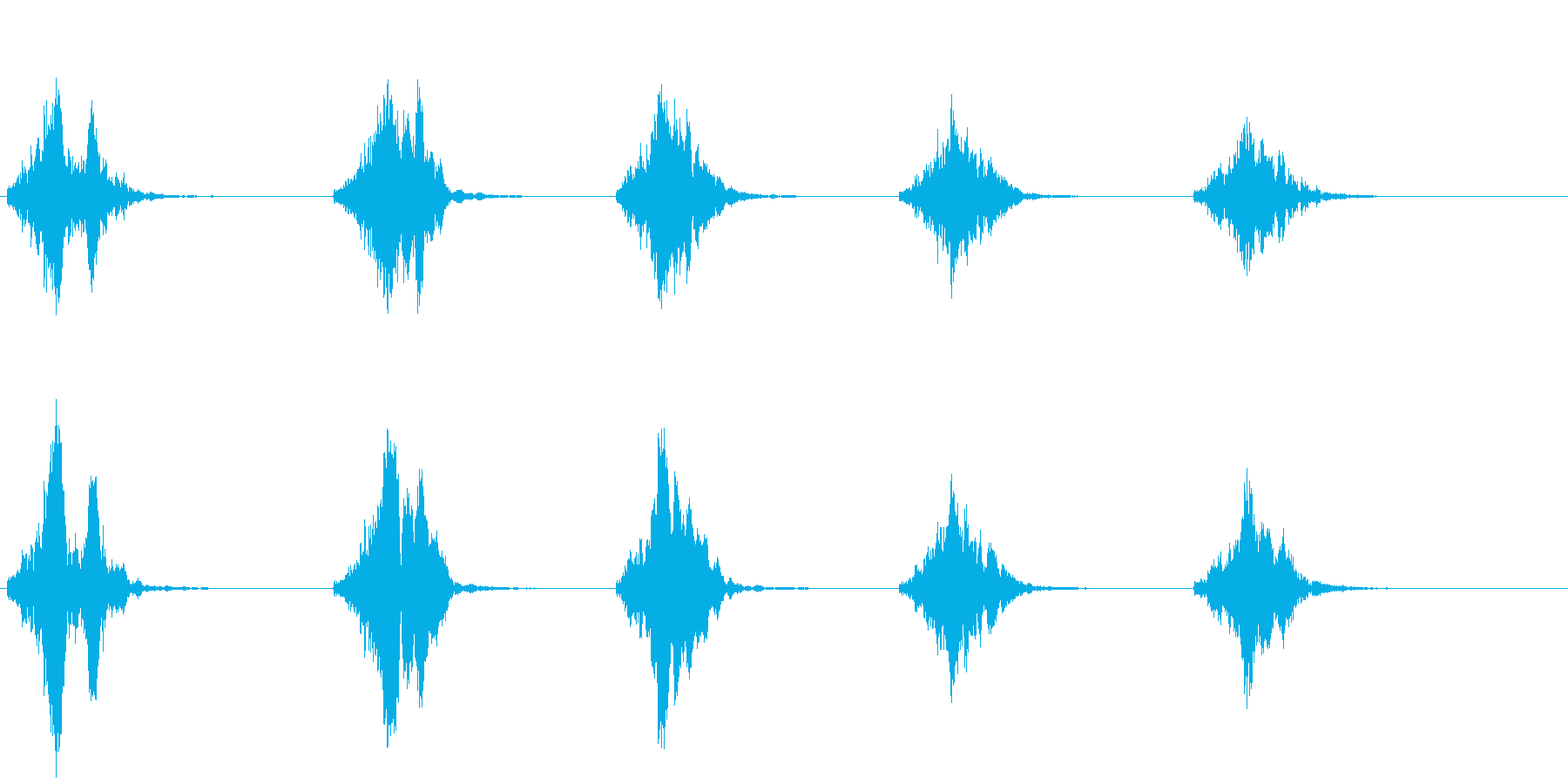 ライオンの鳴き声(グルグル唸る)の再生済みの波形