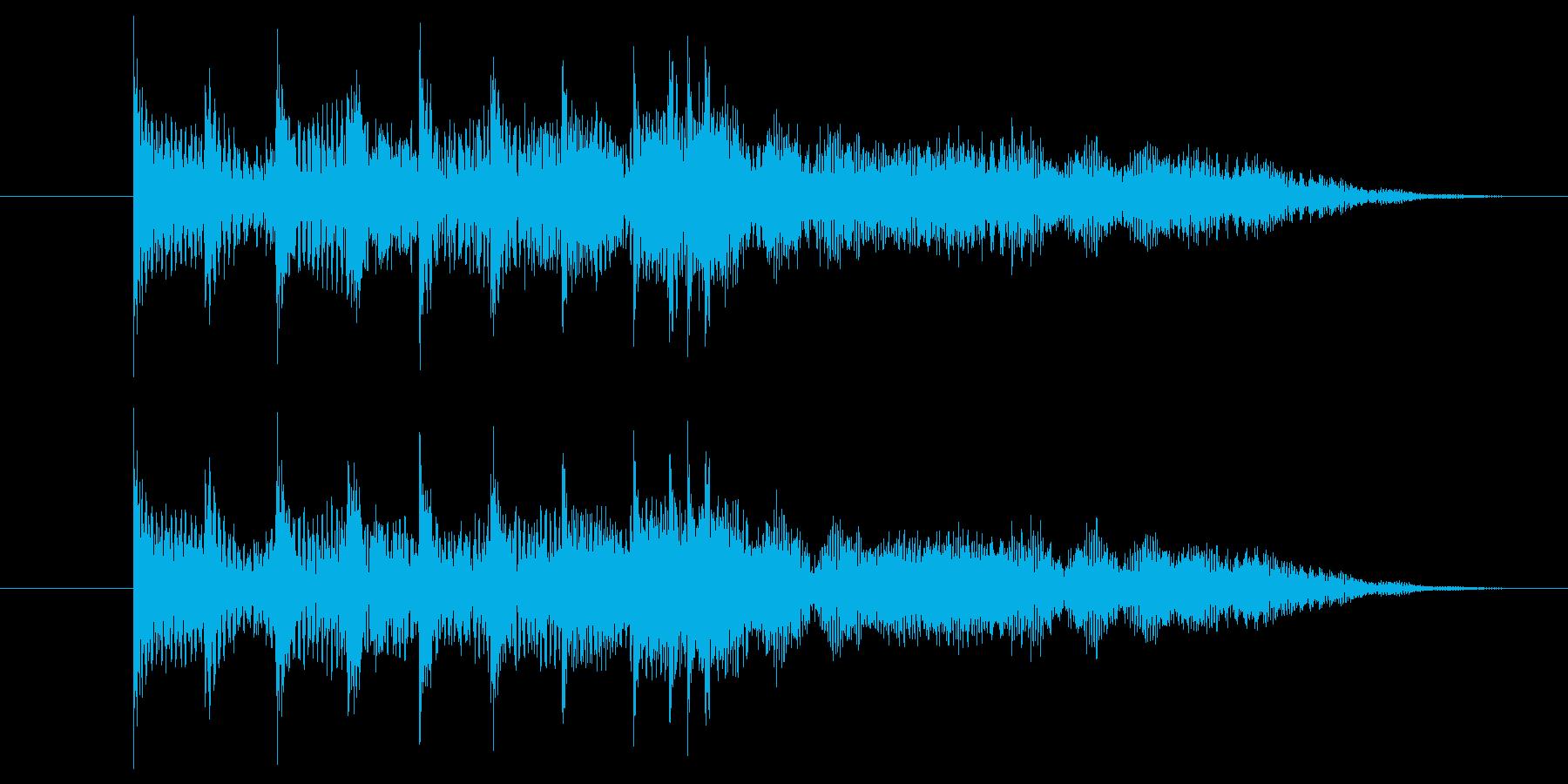 アイテムゲットをイメージしたジングルの再生済みの波形