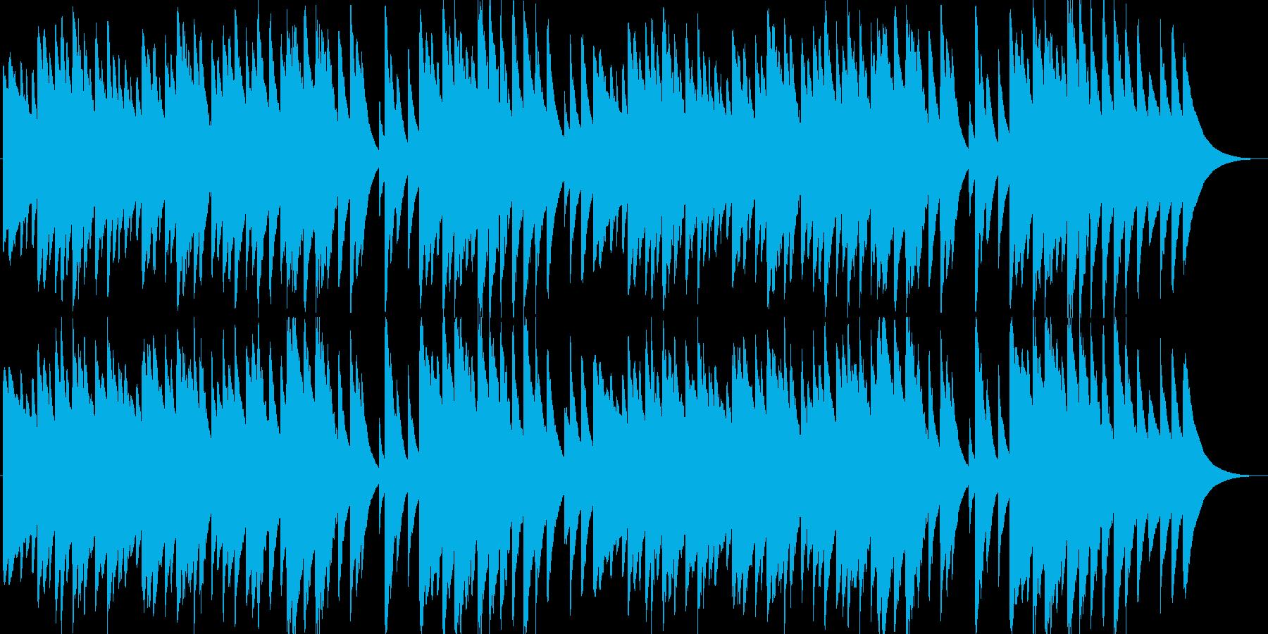 日本の歌・唱歌「ふるさと」のオルゴールの再生済みの波形