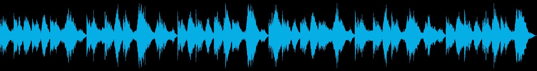 闇、恐怖感、悪夢や幻覚を演出するBGMの再生済みの波形