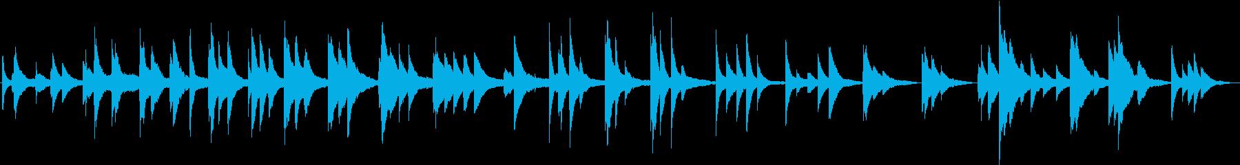 少し暗い印象のピアノ曲の再生済みの波形