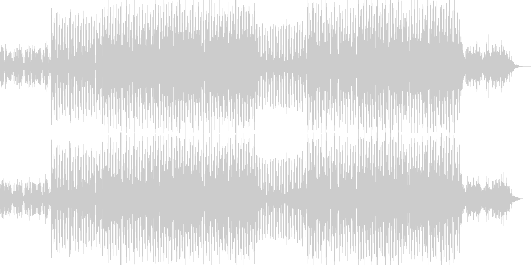 ニュース映像ナレーションバック向け-16の未再生の波形
