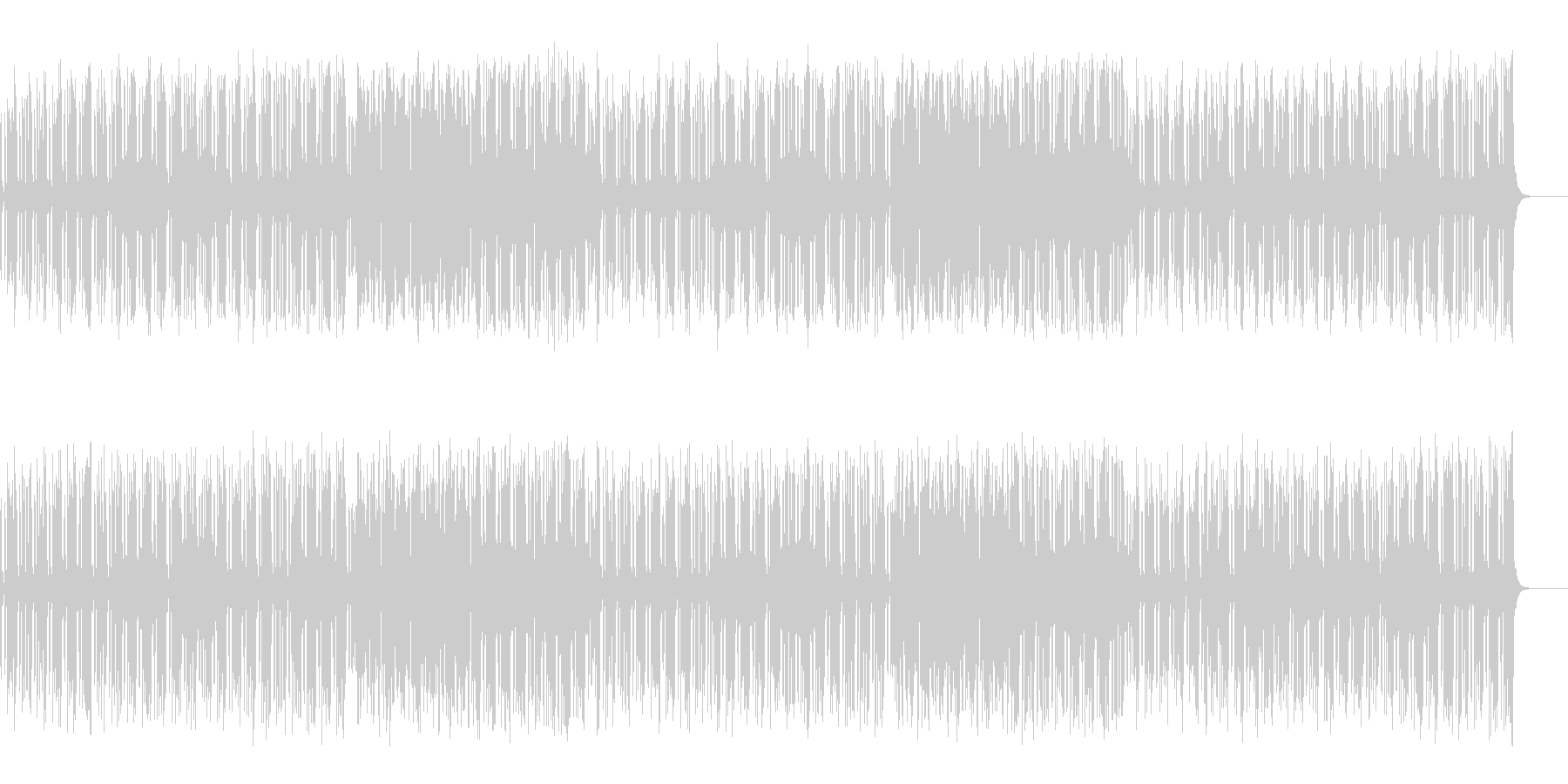 ホーン系のスカしたマイナー・フュージョンの未再生の波形
