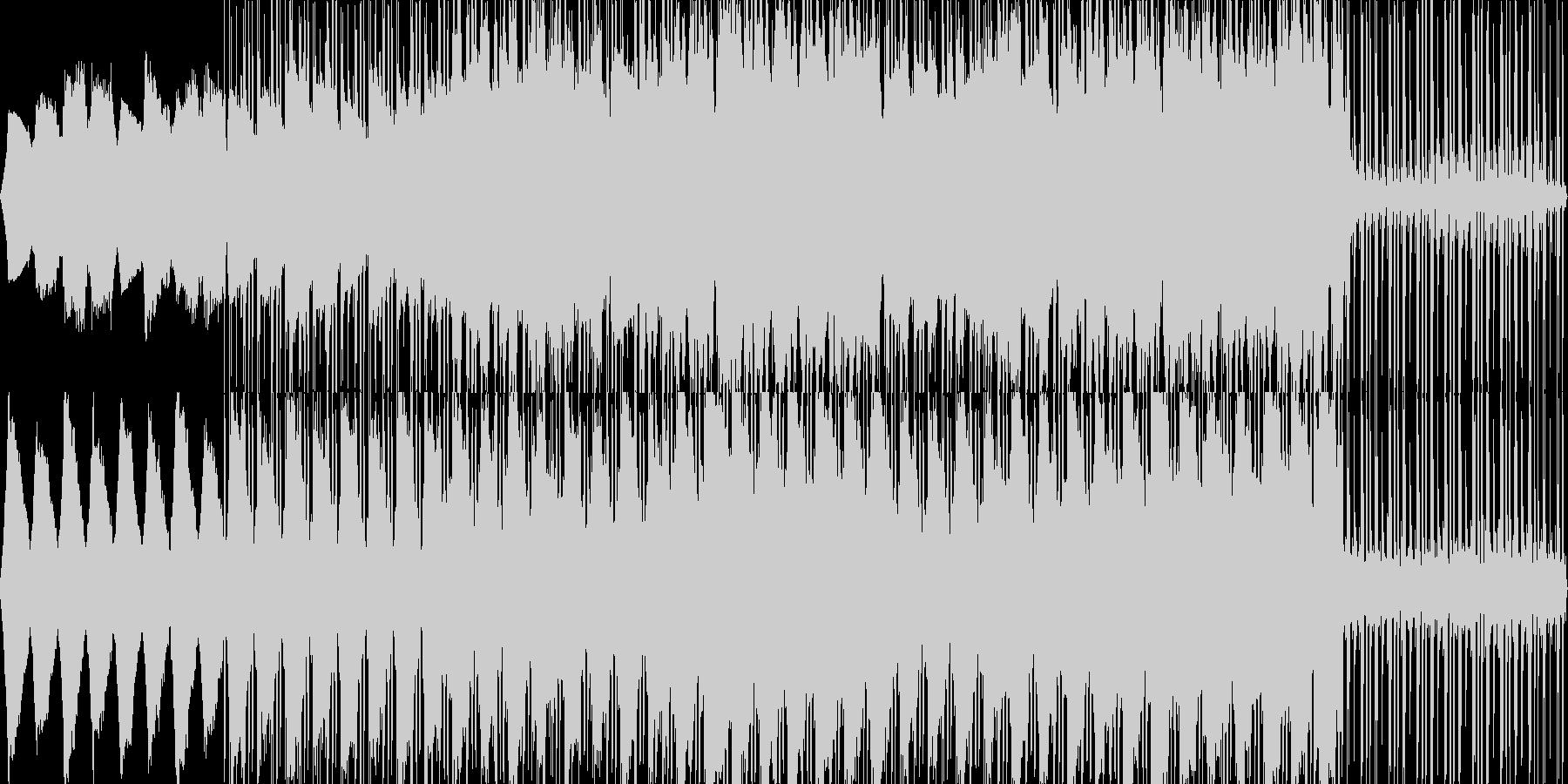 ゆっくりとしたサスペンス調のBGMの未再生の波形