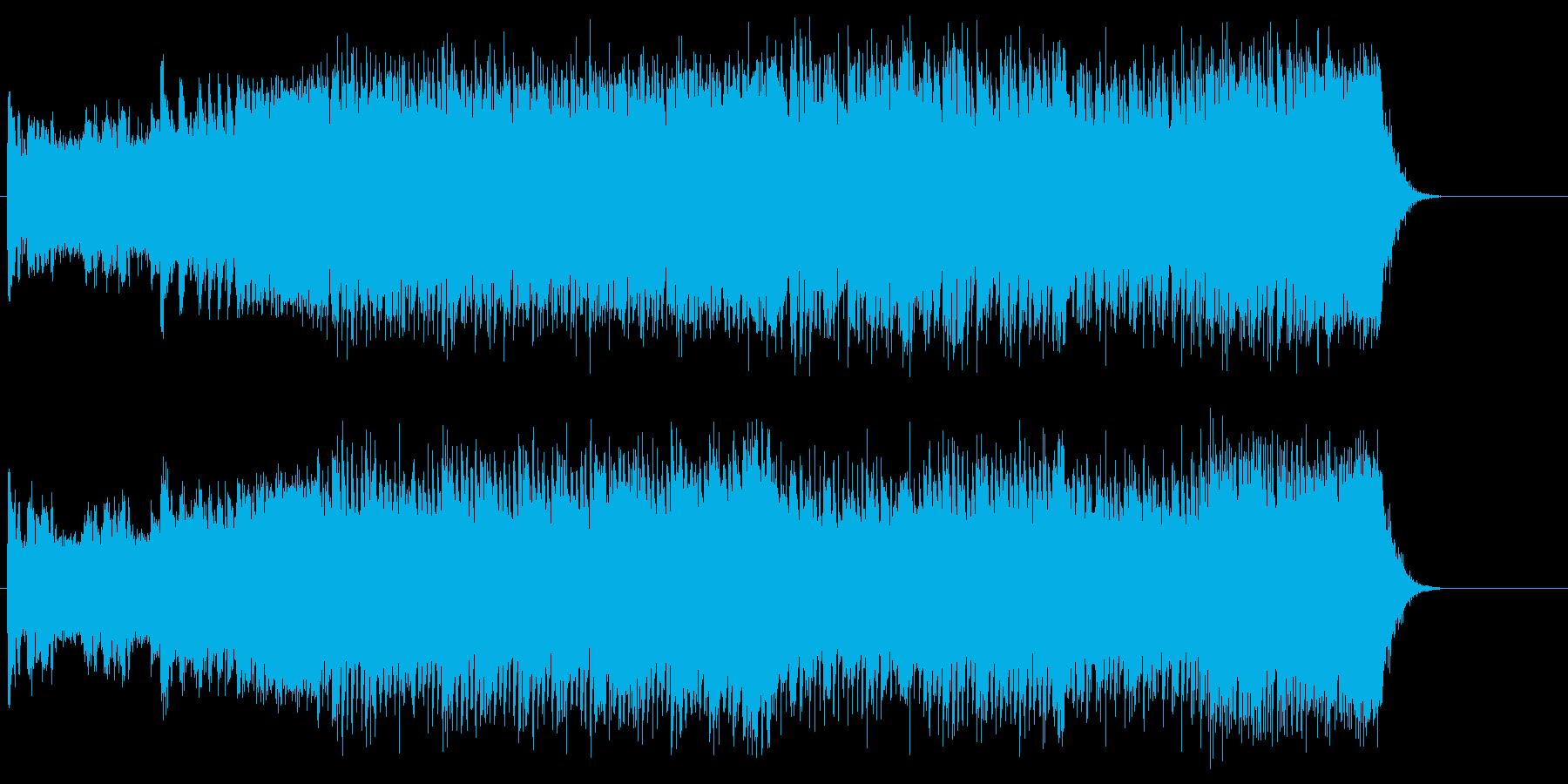 スピード感のあるダンスミュージックの再生済みの波形