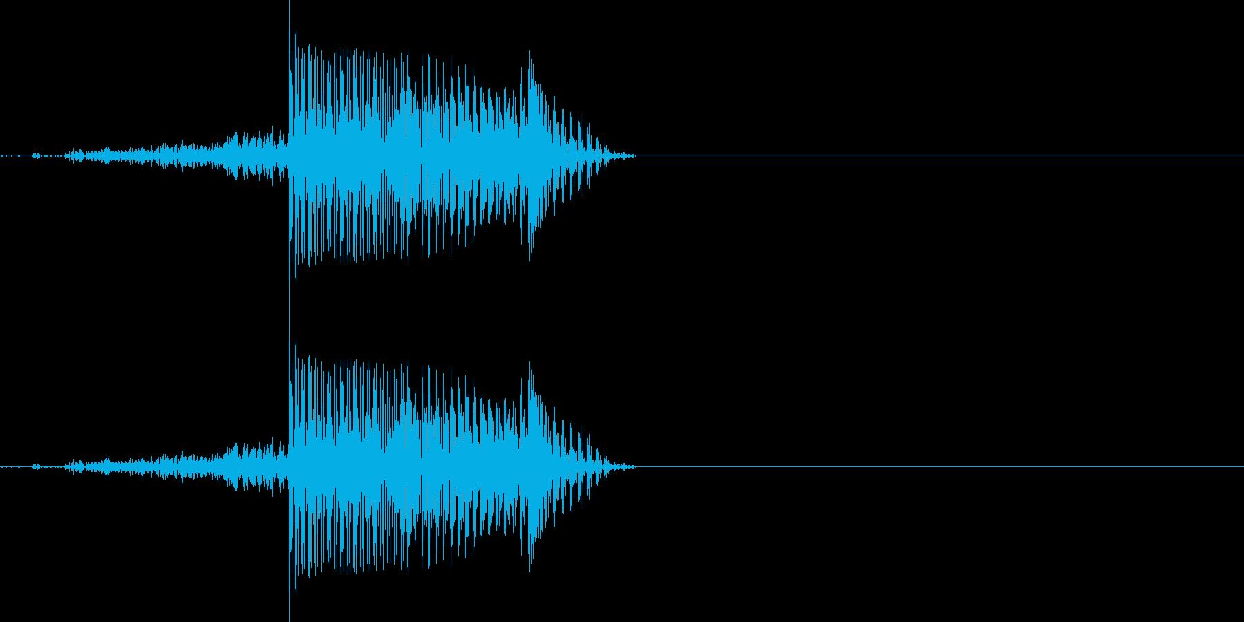 ロボット AI アンドロイド声「hi」の再生済みの波形